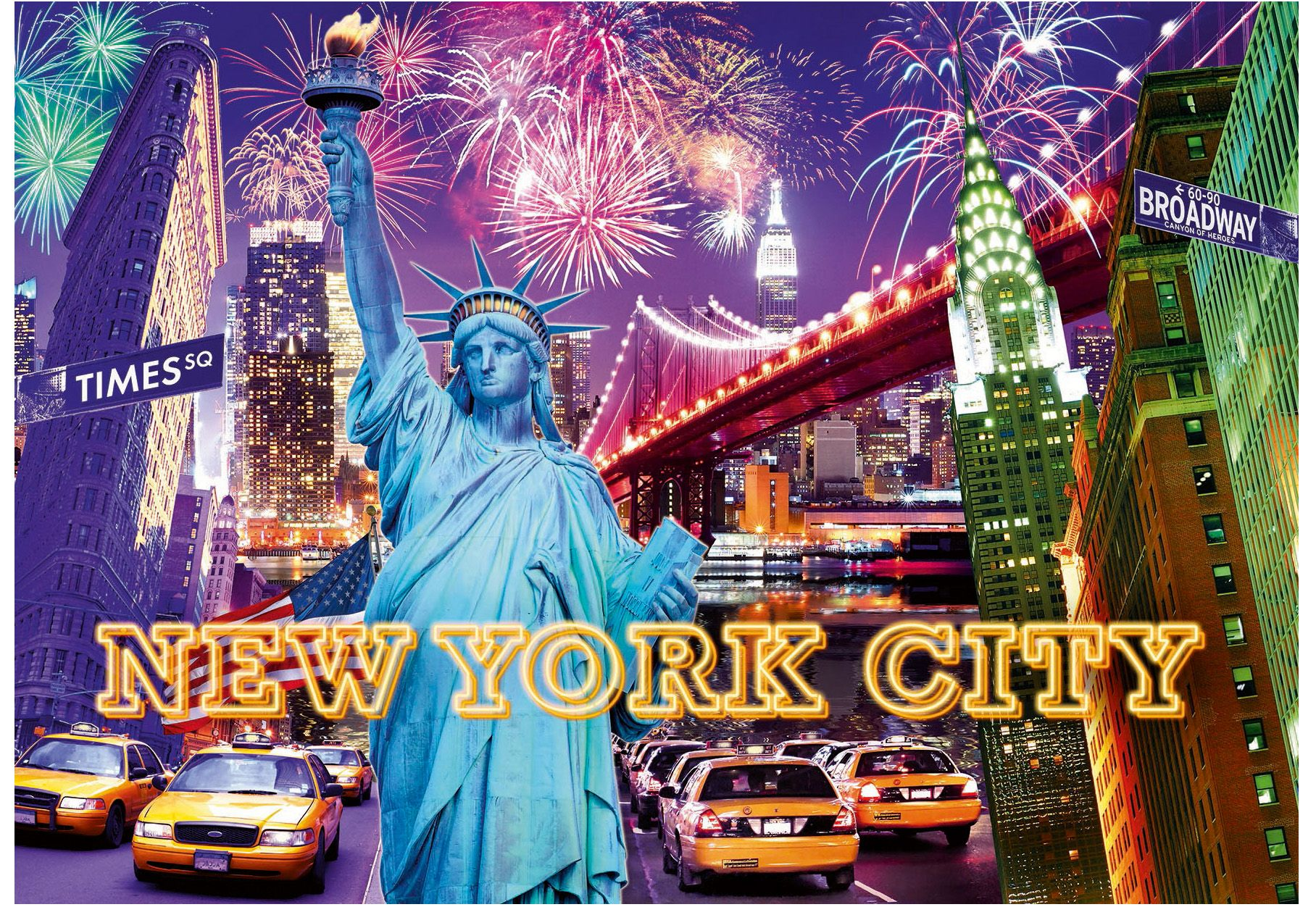 Puzzle 1200 Teile Farbenfrohes New York Ravensburger