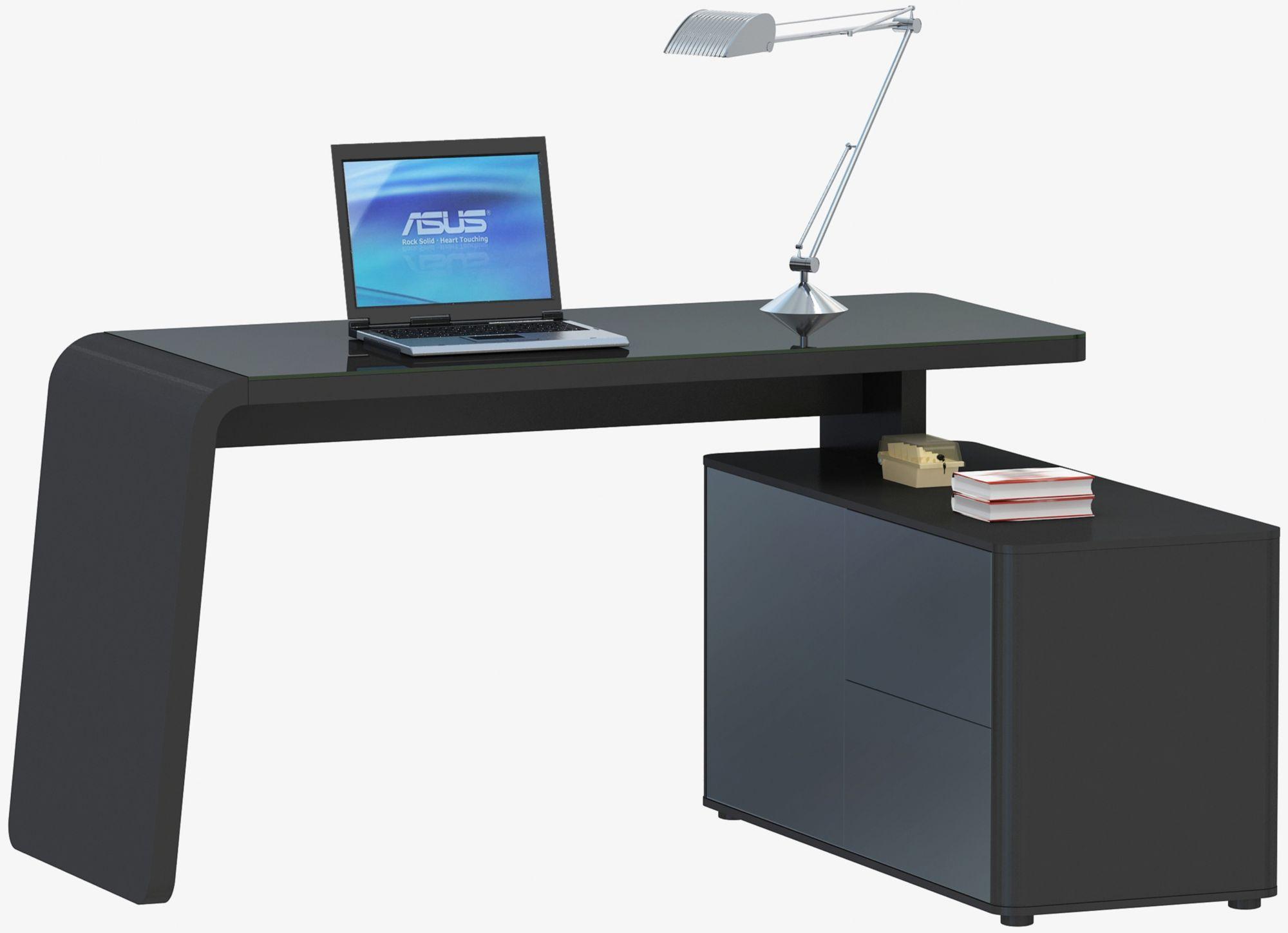 schreibtisch glasplatte g nstig kaufen. Black Bedroom Furniture Sets. Home Design Ideas
