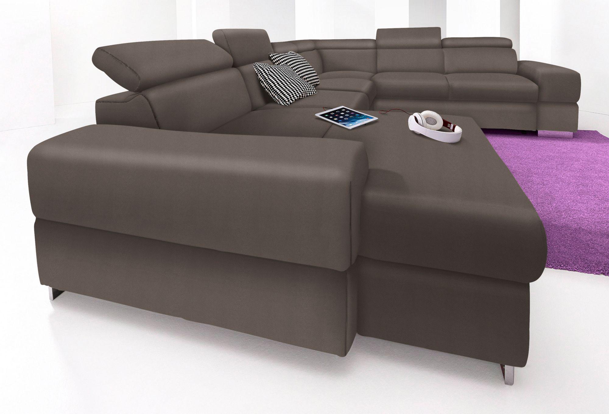 wohnlandschaft cotta wahlweise mit bettfunktion schwab versand wohnlandschaften. Black Bedroom Furniture Sets. Home Design Ideas