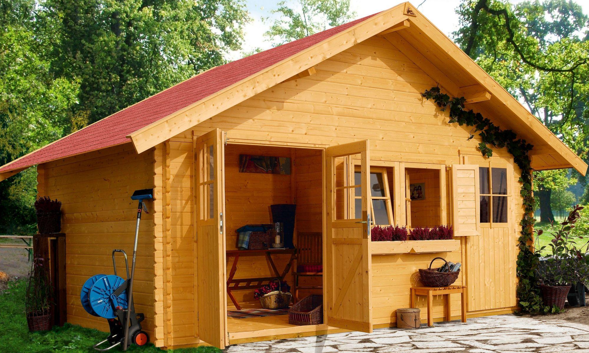 set gartenhaus fagor 1 bxt 402x312 cm schwab versand blockbohlenh user. Black Bedroom Furniture Sets. Home Design Ideas