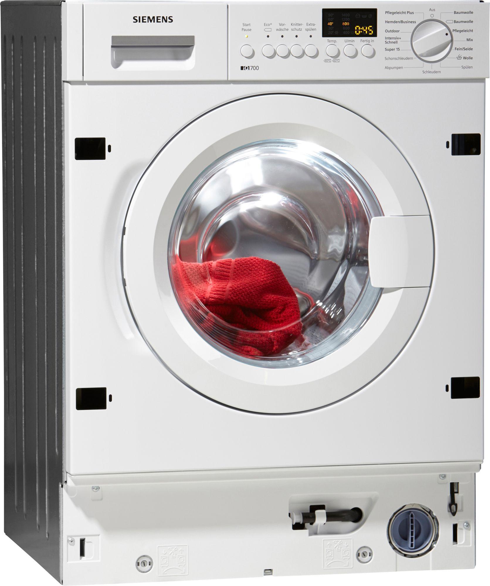 siemens einbau waschmaschine iq700 wi14s441 a 7 kg. Black Bedroom Furniture Sets. Home Design Ideas