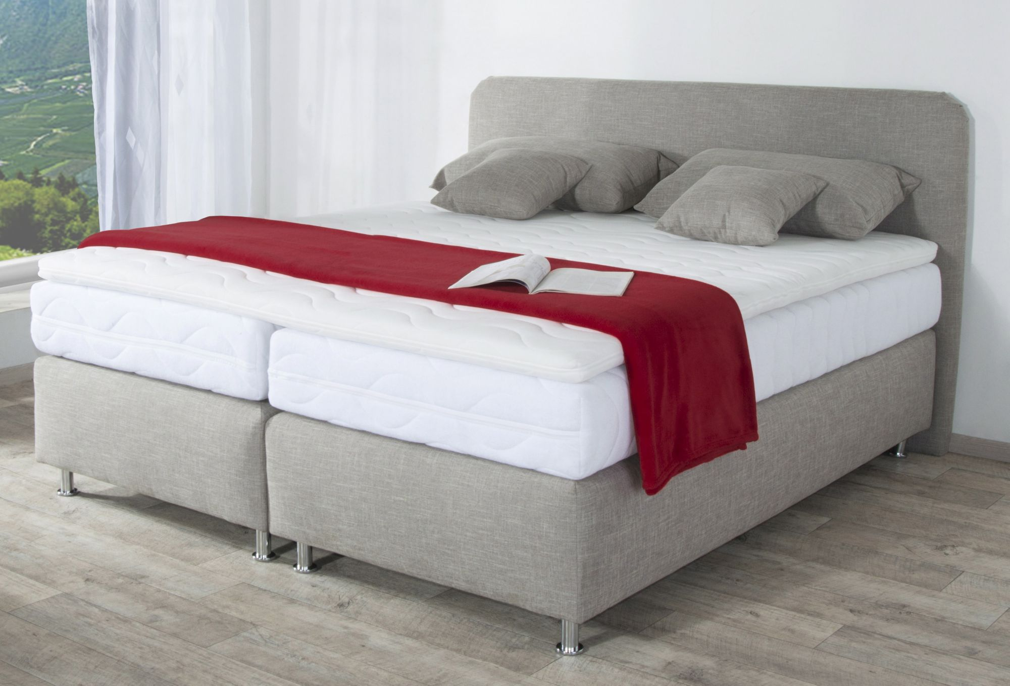 westfalia polsterbetten boxspringbett inkl kaltschaum topper schwab versand betten. Black Bedroom Furniture Sets. Home Design Ideas