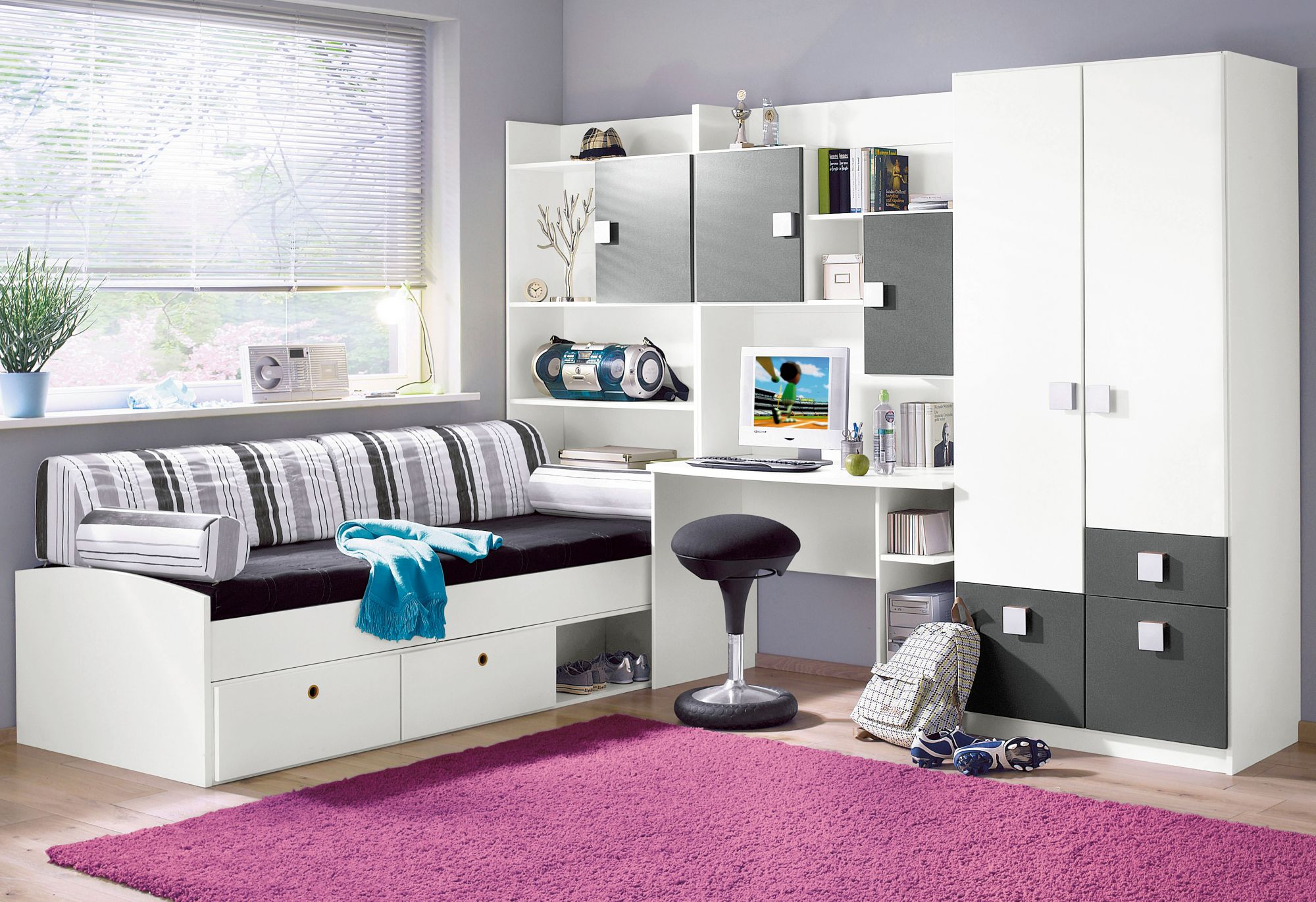 jugendzimmer 5 tlg schwab versand schlafzimmer. Black Bedroom Furniture Sets. Home Design Ideas