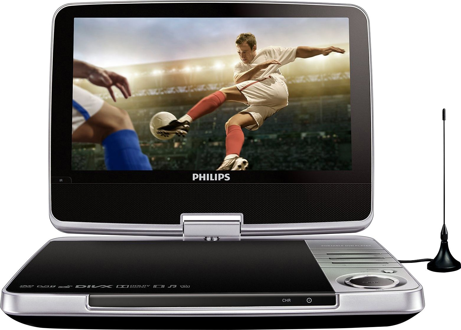 philips pd9025 tragbarer dvd player fernseher dvb t. Black Bedroom Furniture Sets. Home Design Ideas