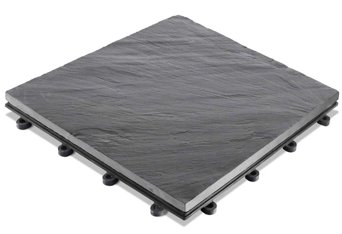 set echtstein klickfliesen aus schiefer 30 x 30 cm 4 stk schwab versand terrassenb den. Black Bedroom Furniture Sets. Home Design Ideas