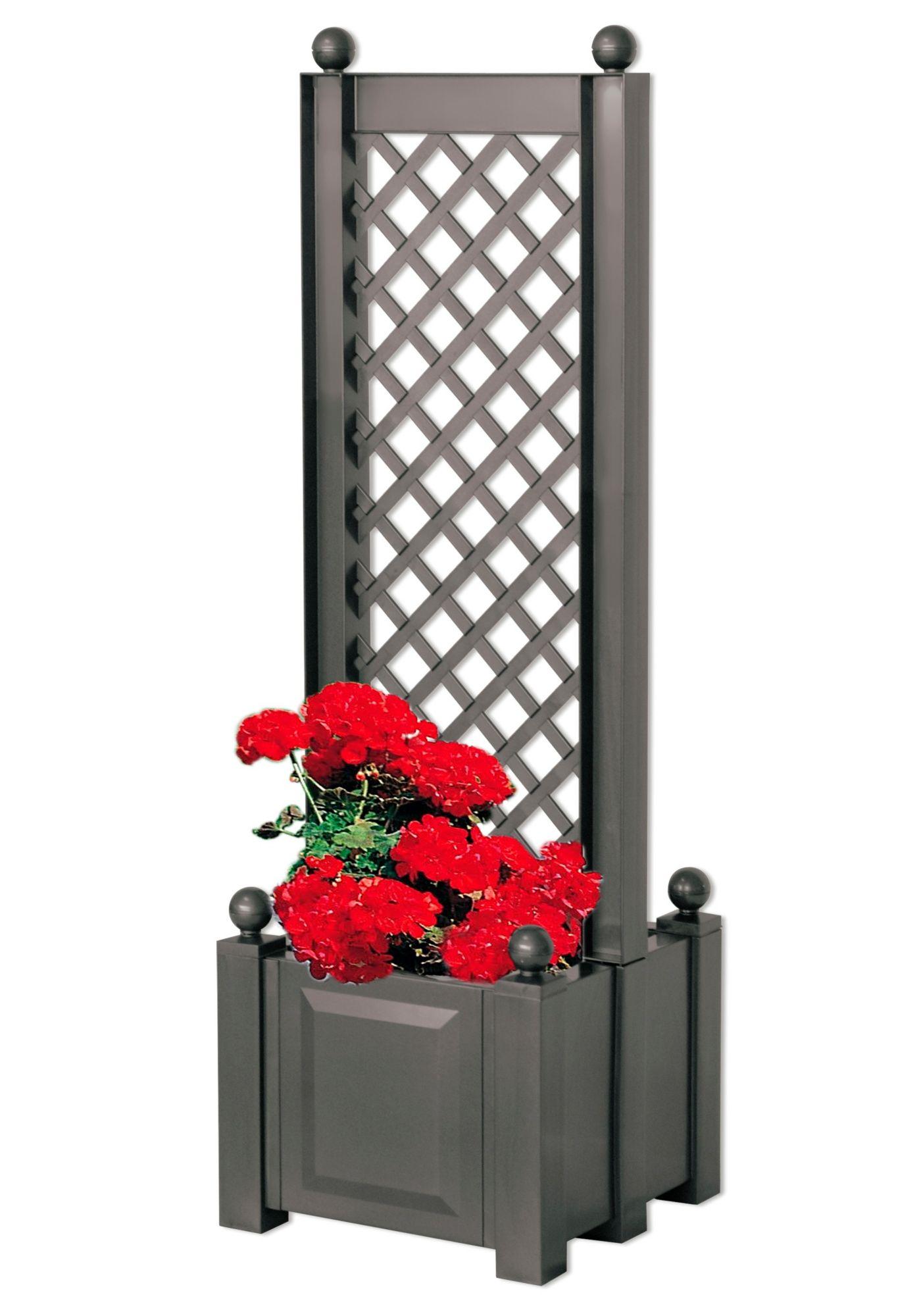 spalier mit beidseitigem pflanzkasten 43cm schwab. Black Bedroom Furniture Sets. Home Design Ideas