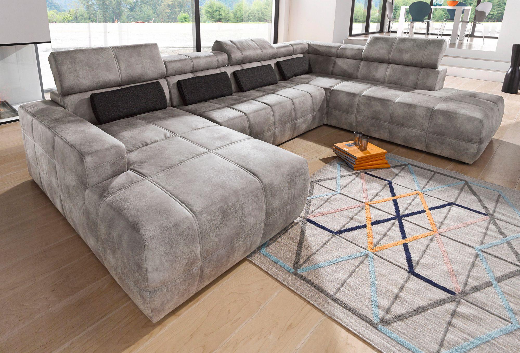 wohnlandschaft wahlweise mit sitztiefenverstellung schwab versand wohnlandschaften. Black Bedroom Furniture Sets. Home Design Ideas