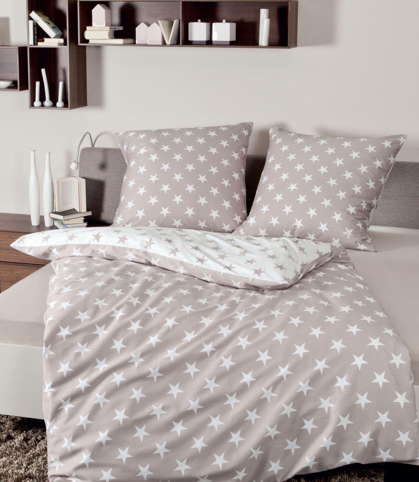 bettw sche janine sterne mit wendeseite schwab versand bettw sche 200x200 cm. Black Bedroom Furniture Sets. Home Design Ideas