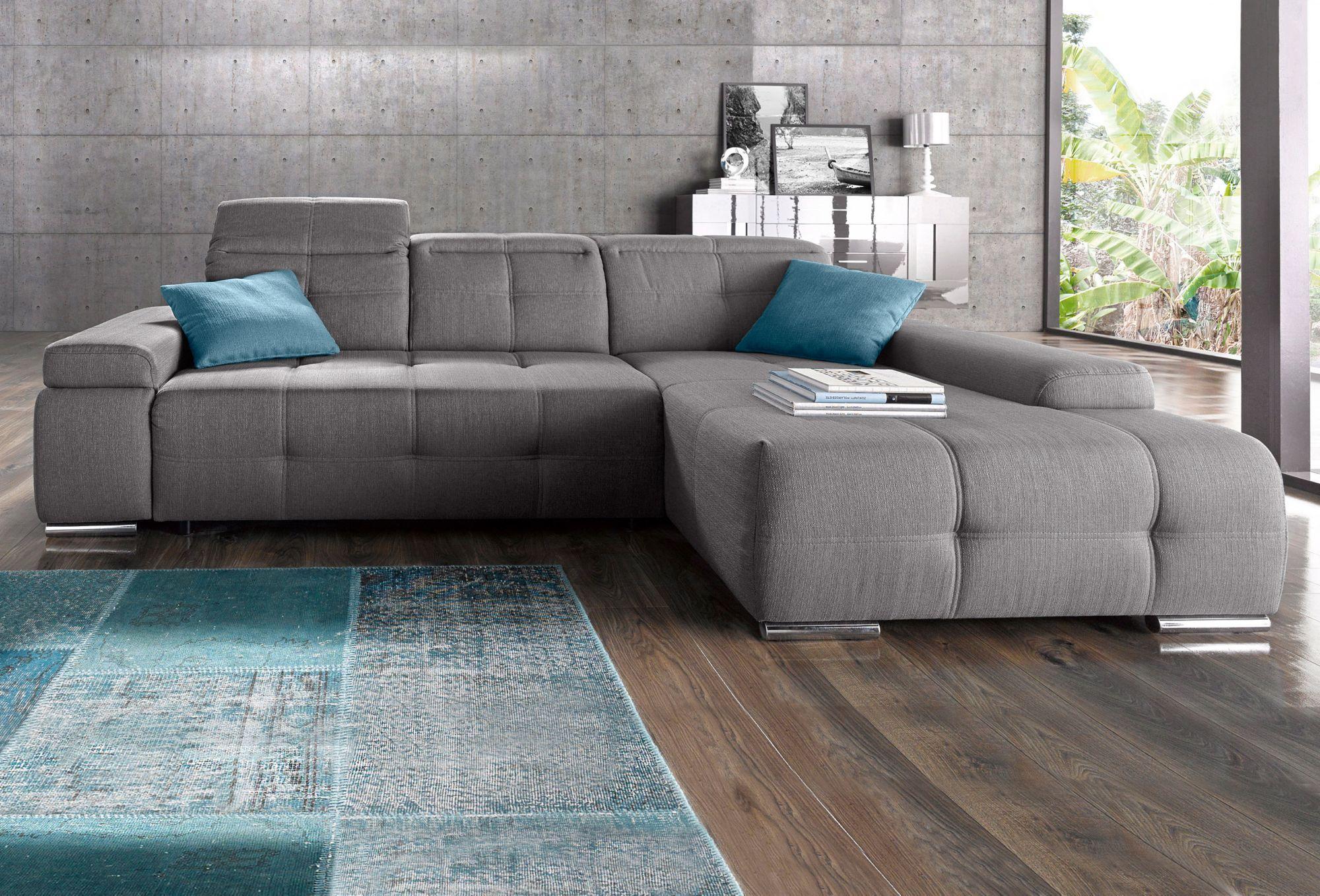 polsterecke sit more wahlweise mit bettfunktion schwab. Black Bedroom Furniture Sets. Home Design Ideas