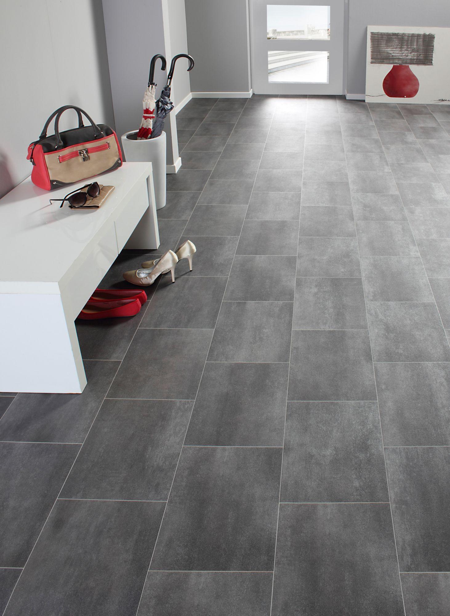 pvc boden strong fliese braun grau festma 300x400 cm schwab versand vinylboden. Black Bedroom Furniture Sets. Home Design Ideas