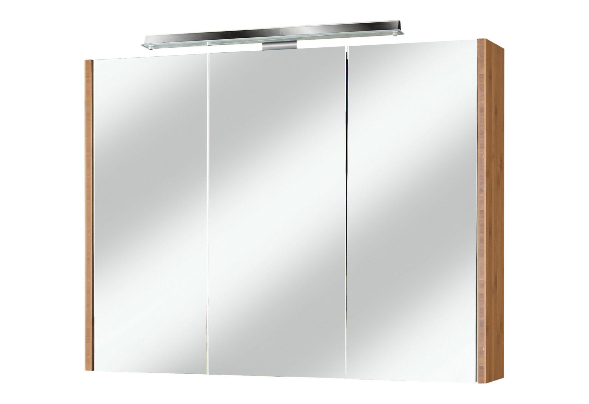 Spiegelschrank bambus breite 90 cm schwab versand spiegelschr nke mit beleuchtung - Spiegelschrank bambus ...