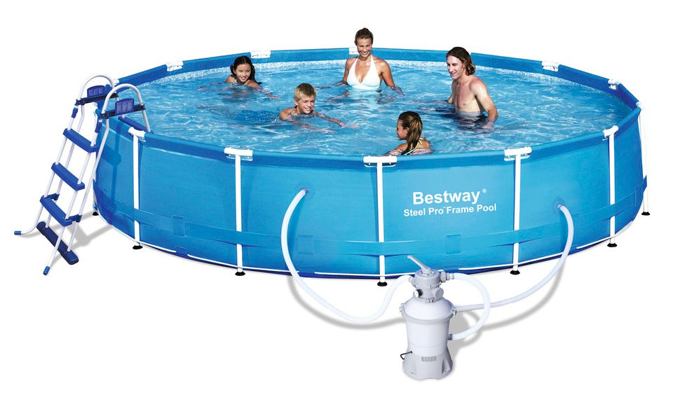 Frame pool set g nstig kaufen for Bestway pool hagebau