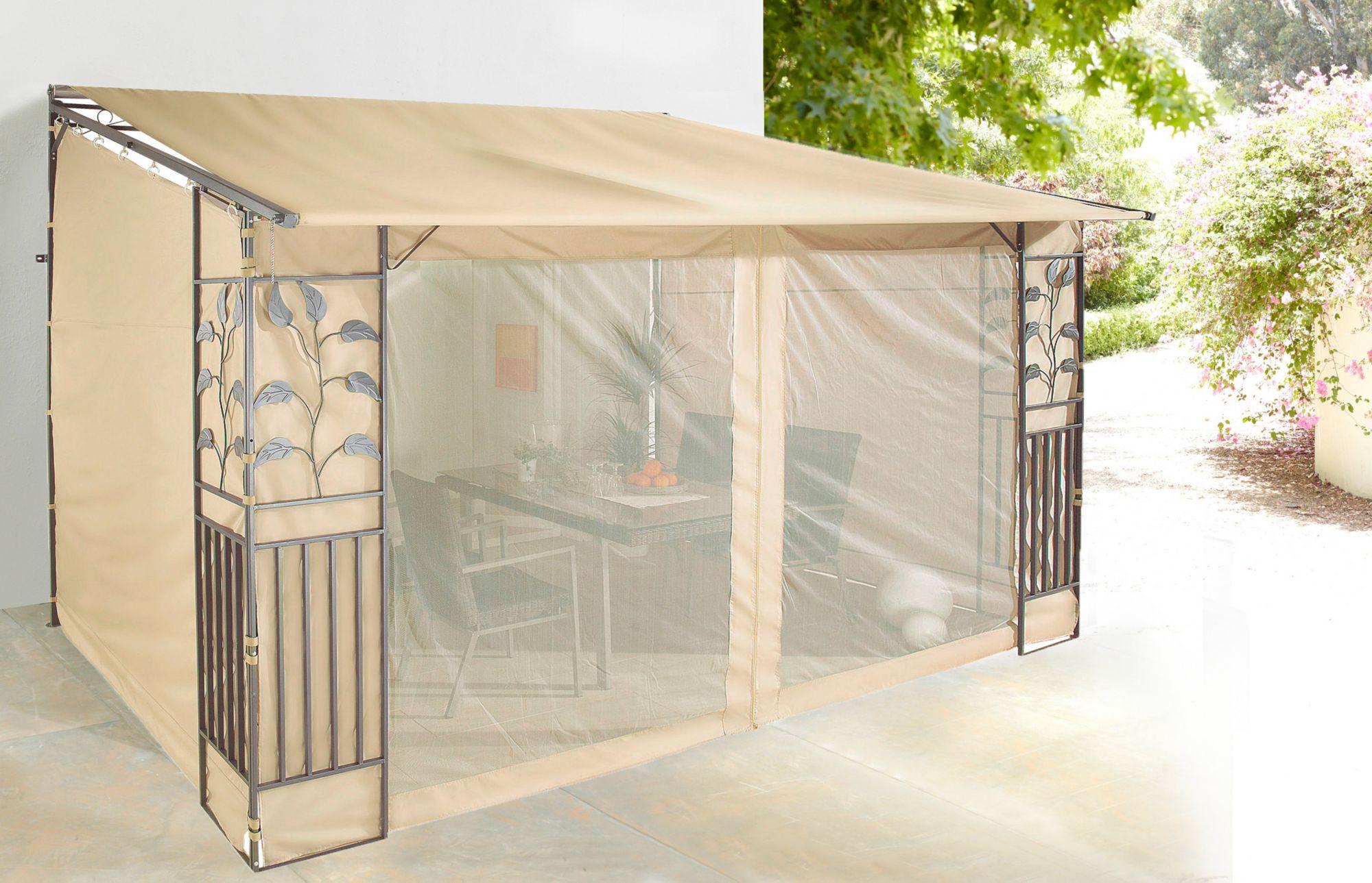 seitenteile f r pavillon rollpavillon sandfarben. Black Bedroom Furniture Sets. Home Design Ideas