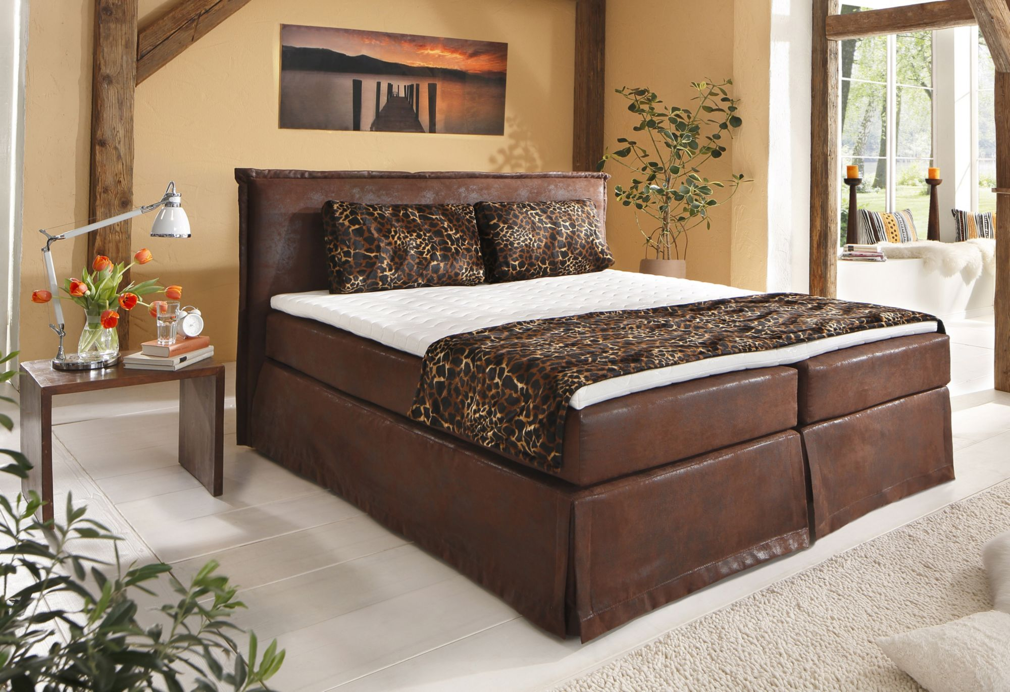 boxspringbett inkl topper home affaire brighton schwab versand bettgestelle. Black Bedroom Furniture Sets. Home Design Ideas