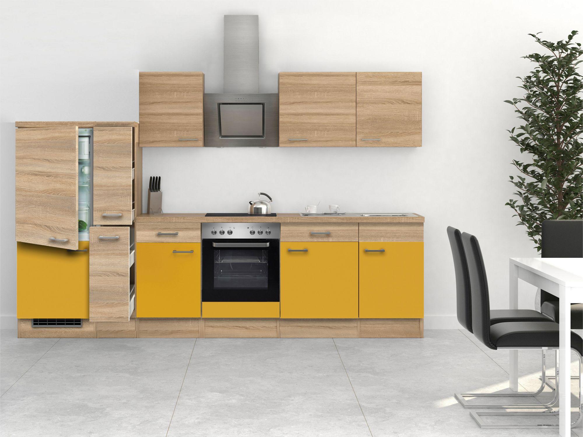 Billige Einbauküchen Mit E Geräten ~  mit EGeräten »Rio«, Breite 310 cm, inkl 2 Frontensatz gratis