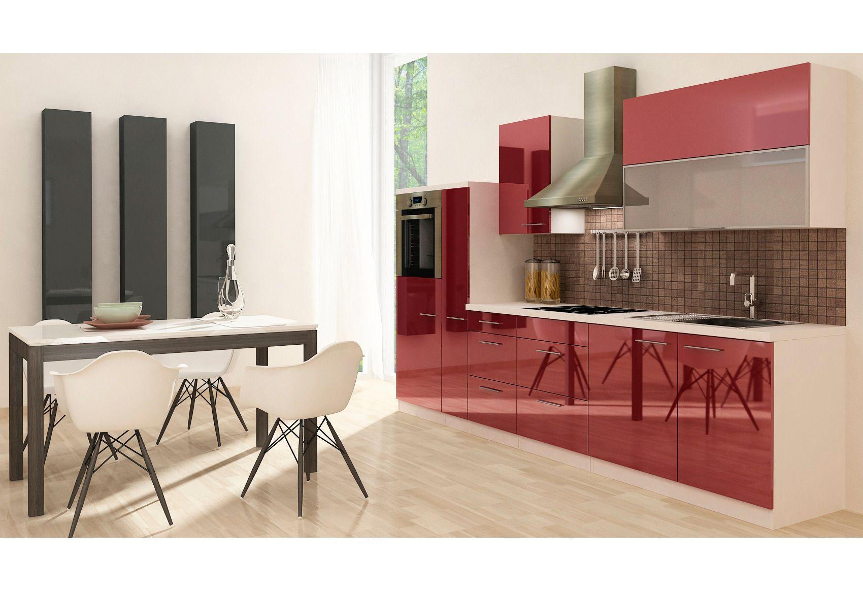 Billige Einbauküchen Mit E Geräten ~  mit Geräten Küchenzeile mit EGeräten »Premium«, Breite 310 cm