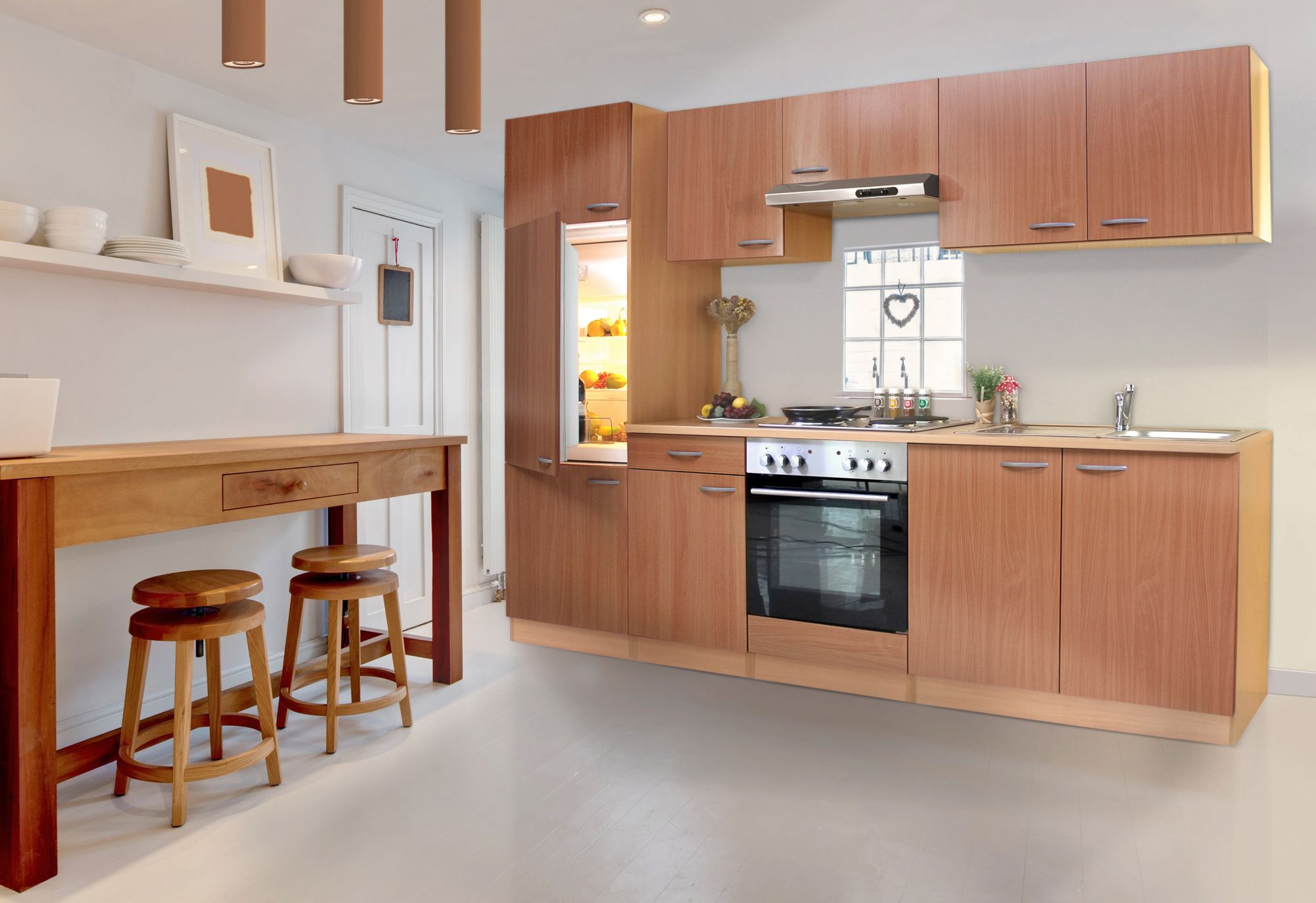 Kuchenleerblock basic breite 270 cm schwab versand for Küchenleerblock
