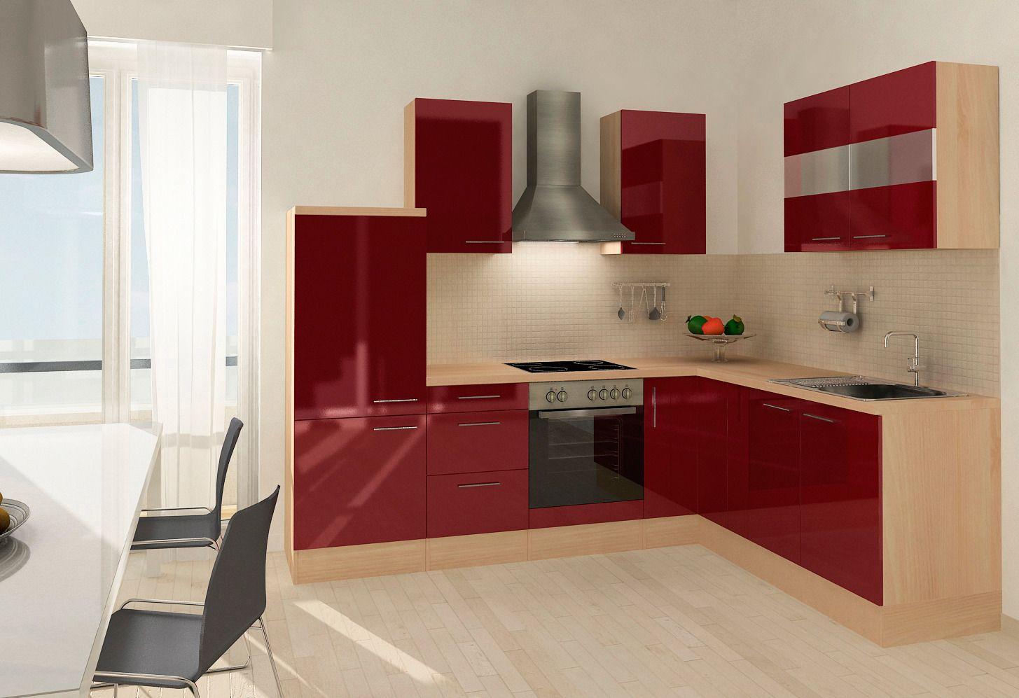 k chenzeile mit e ger ten mia 260 x 200 cm set 2. Black Bedroom Furniture Sets. Home Design Ideas