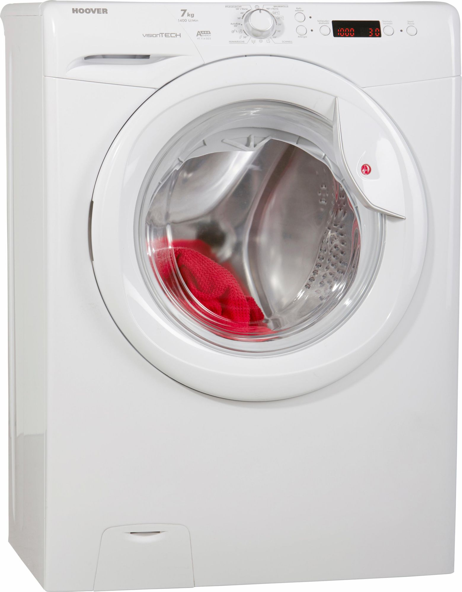 hoover waschmaschine visiontech vt 714 d23 a 7 kg 1400 u min schwab versand frontlader. Black Bedroom Furniture Sets. Home Design Ideas