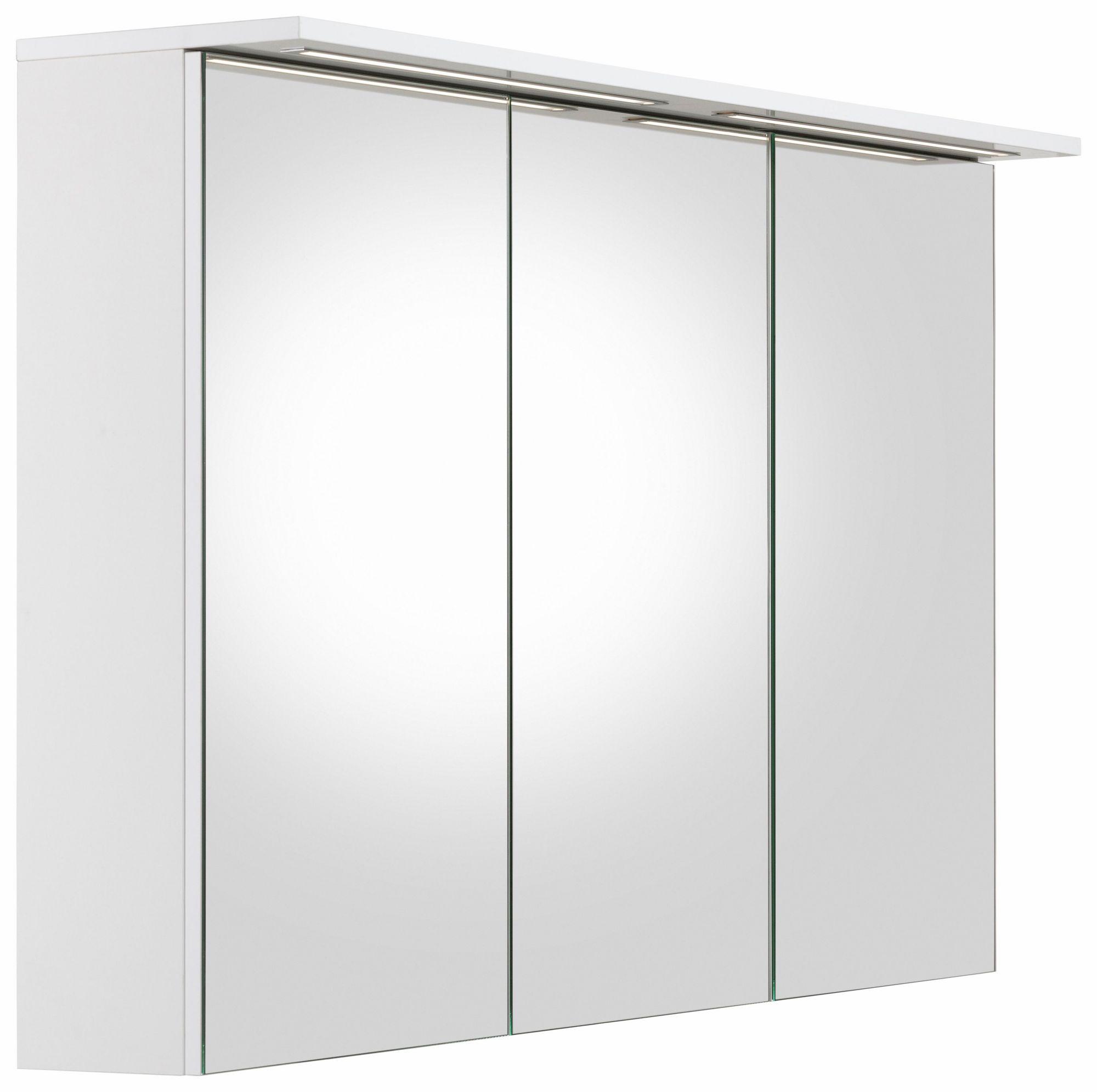 schildmeyer spiegelschrank merle mit led beleuchtung. Black Bedroom Furniture Sets. Home Design Ideas