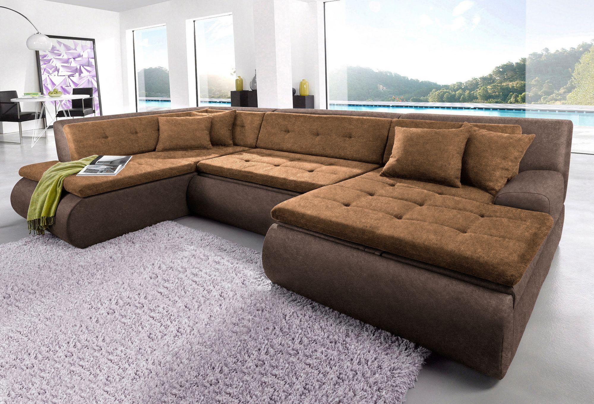 wohnlandschaft trendmanufaktur wahlweise mit bettfunktion schwab versand wohnlandschaften. Black Bedroom Furniture Sets. Home Design Ideas