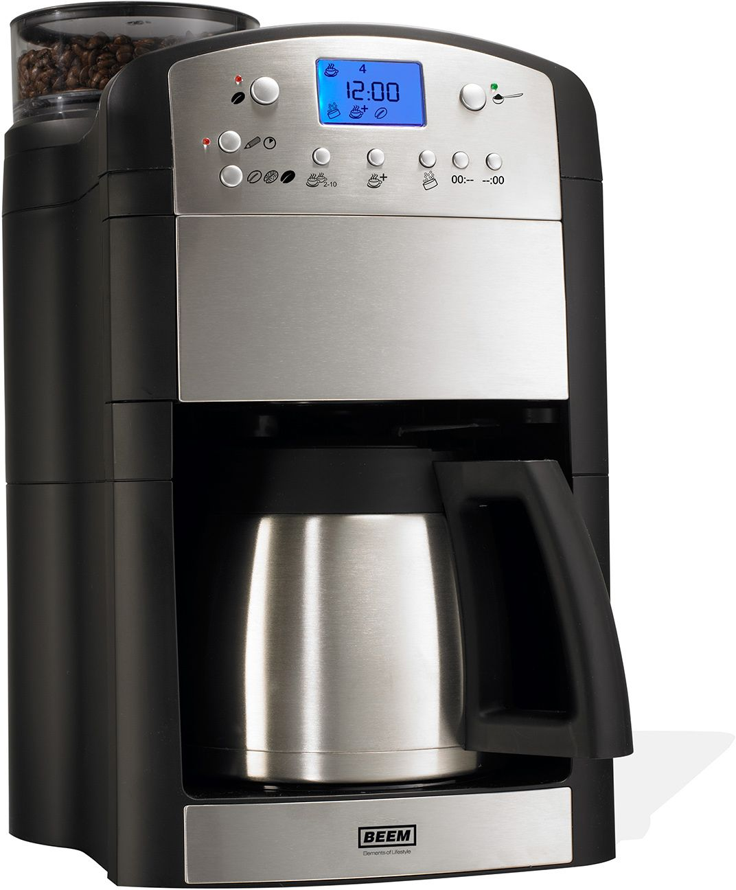 beem kaffeemaschine mit thermokanne und integrierter kaffeem hle schwab versand. Black Bedroom Furniture Sets. Home Design Ideas