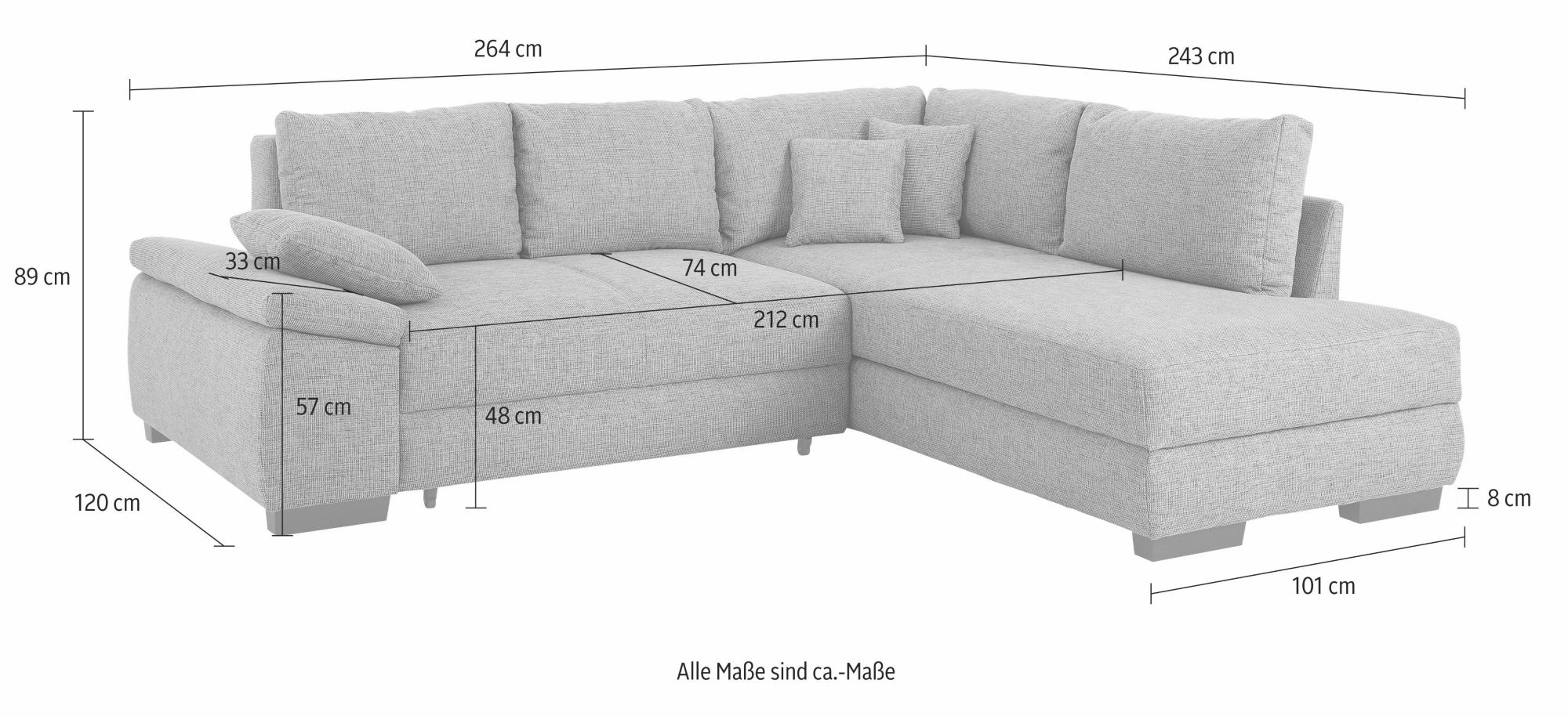 home affaire ecksofa trinidad boxspring wahlweise mit bettfunktion f r dauerschl fer geeigne. Black Bedroom Furniture Sets. Home Design Ideas