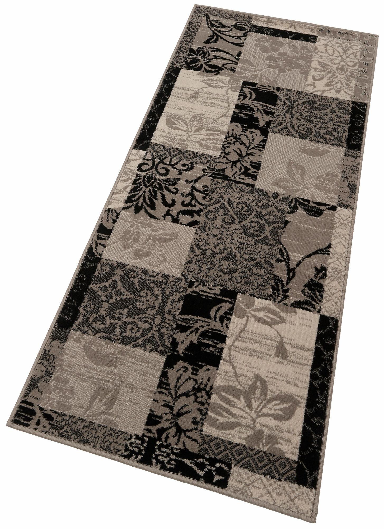 l ufer hanse home paliseu patchwork optik floral gemustert maschinengewebt schwab. Black Bedroom Furniture Sets. Home Design Ideas