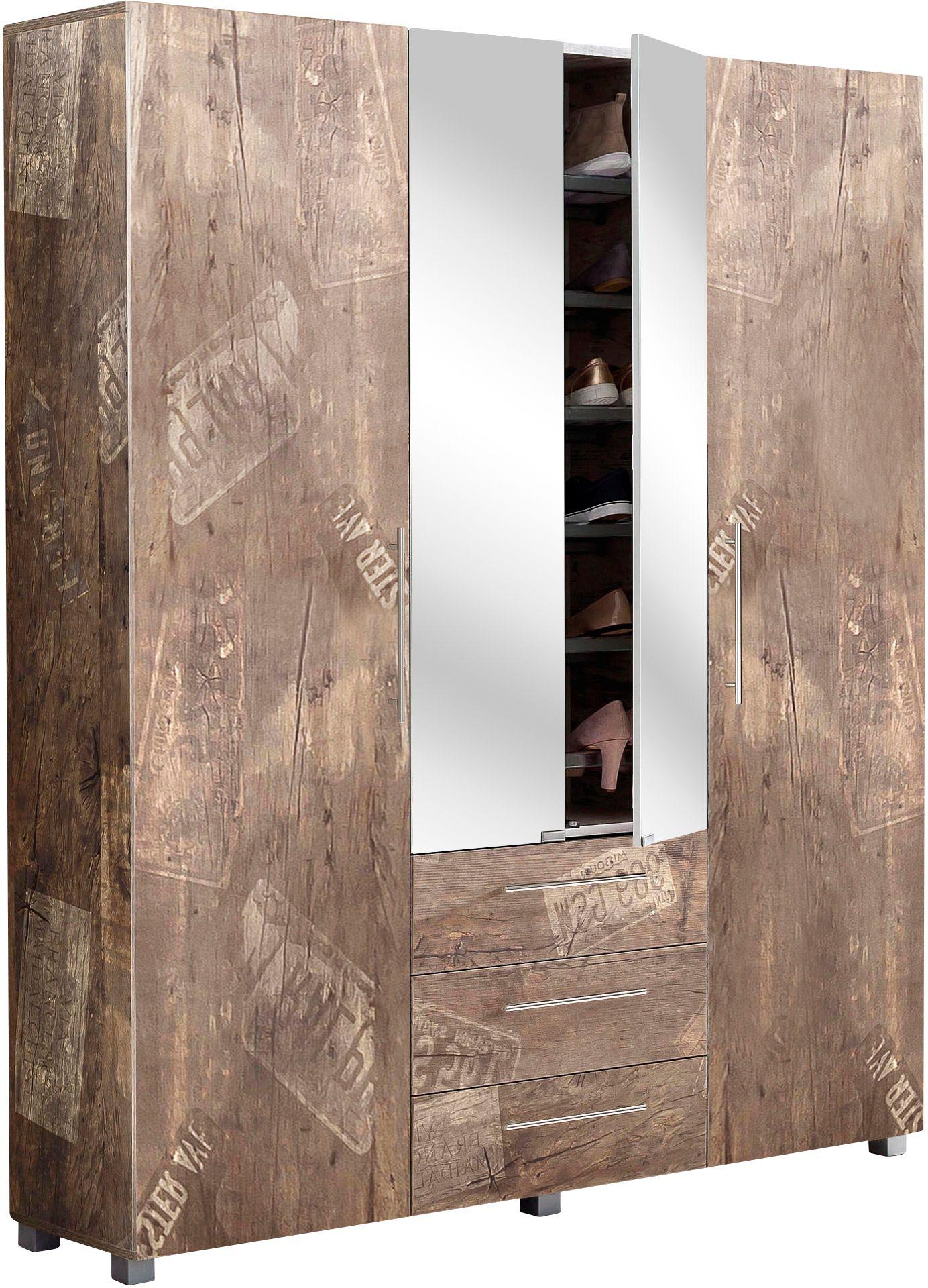 Schildmeyer garderobenschrank danu mit spiegel schwab - Garderobenschrank mit spiegel ...