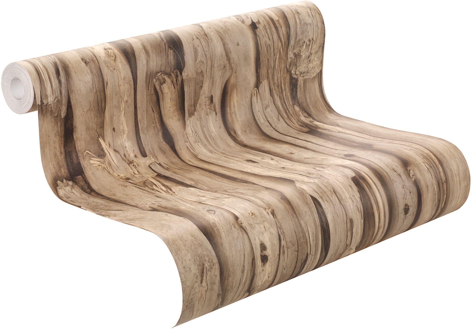 kuchenmobel tapezieren : Vliestapete, Rasch, ?African Queen, Holz? Schwab Versand Vintage ...