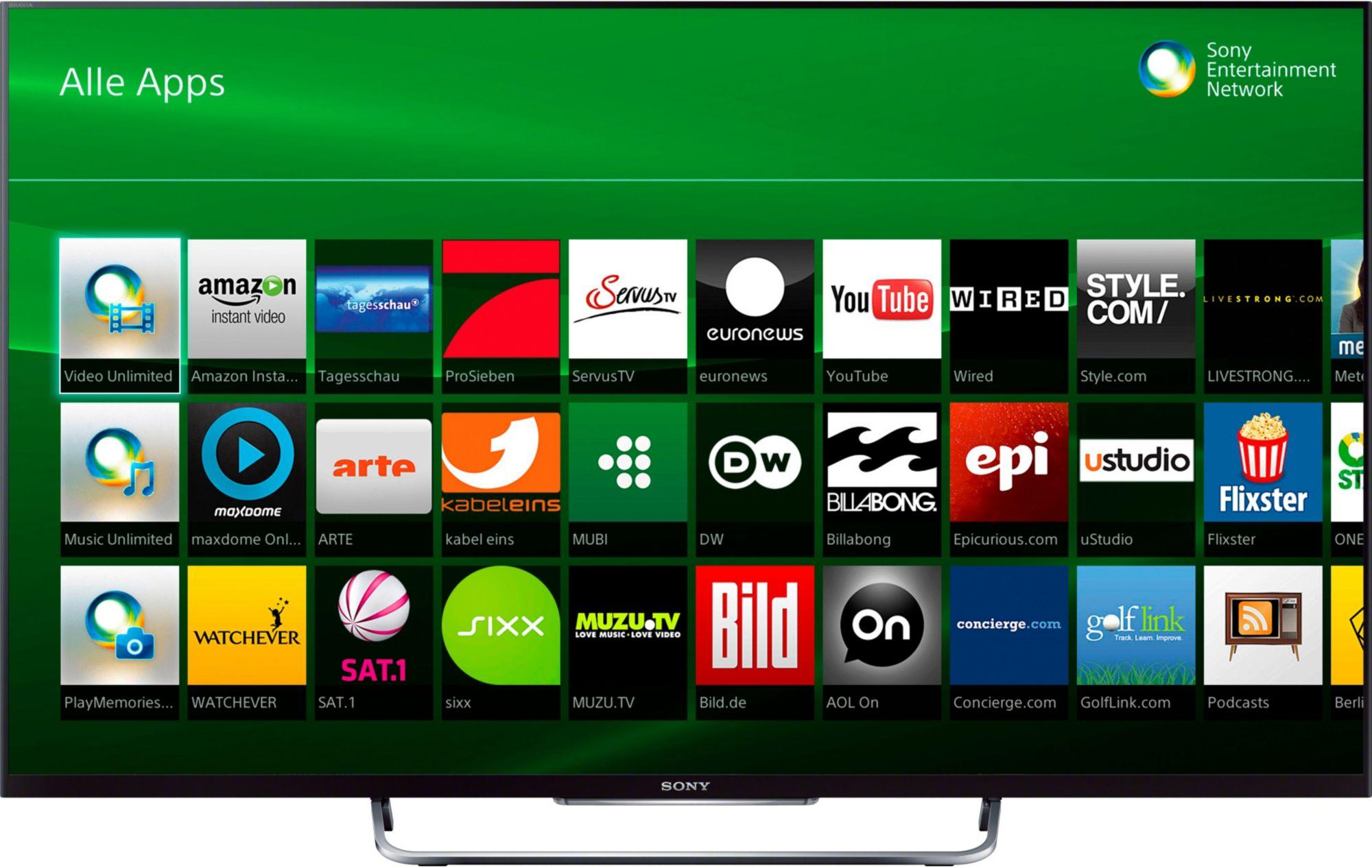 sony bravia kdl 55w805c led fernseher 139 cm 55 zoll 1080p full hd smart tv. Black Bedroom Furniture Sets. Home Design Ideas