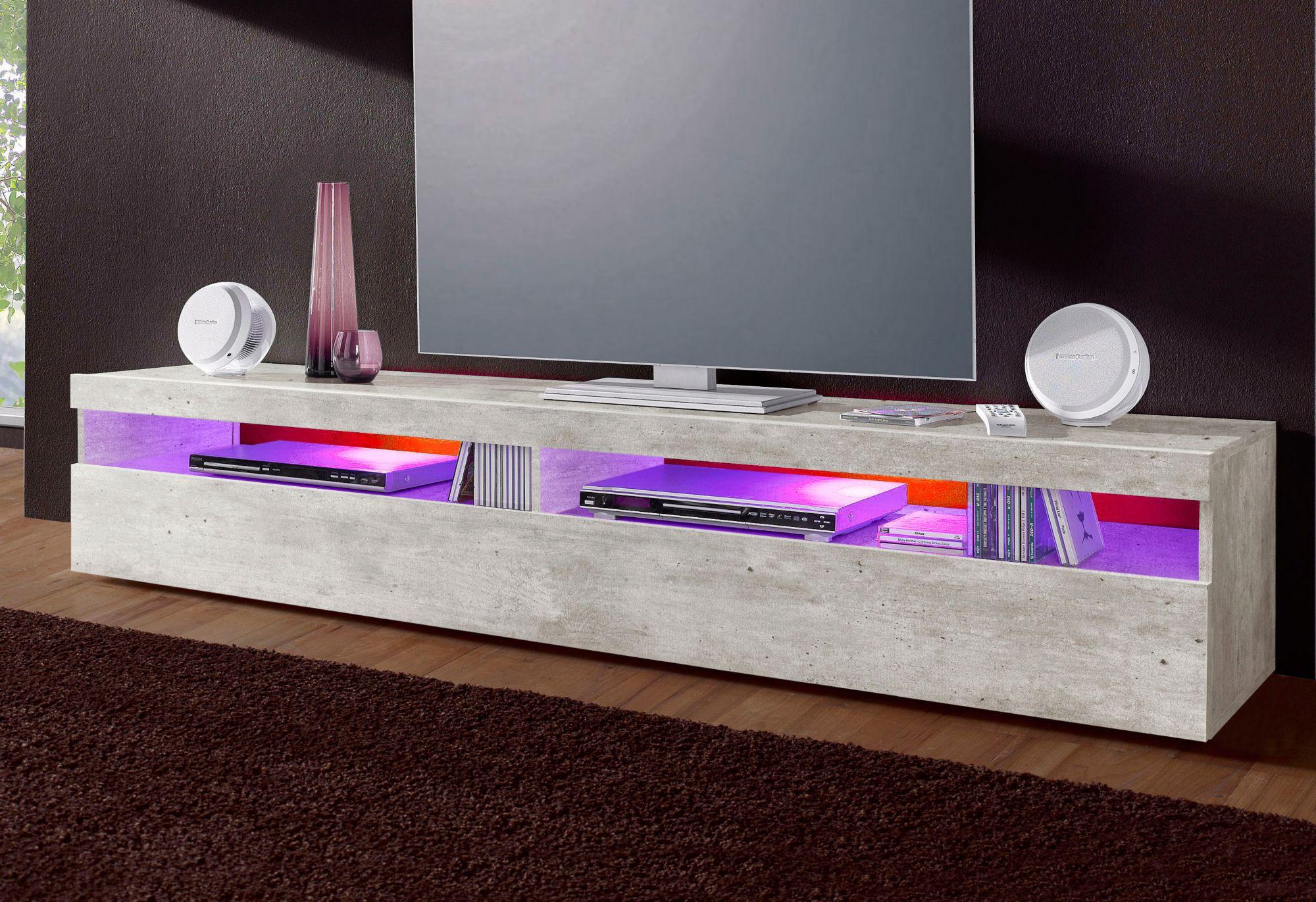 tecnos lowboard breite 130 cm oder 200 cm schwab versand tv lowboards. Black Bedroom Furniture Sets. Home Design Ideas