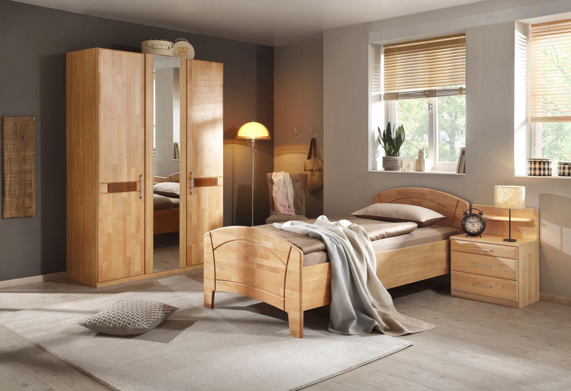 schlafzimmer set 4 tlg sarah mit bett 100 200 cm und 2 oder 3 trg schrank schwab. Black Bedroom Furniture Sets. Home Design Ideas