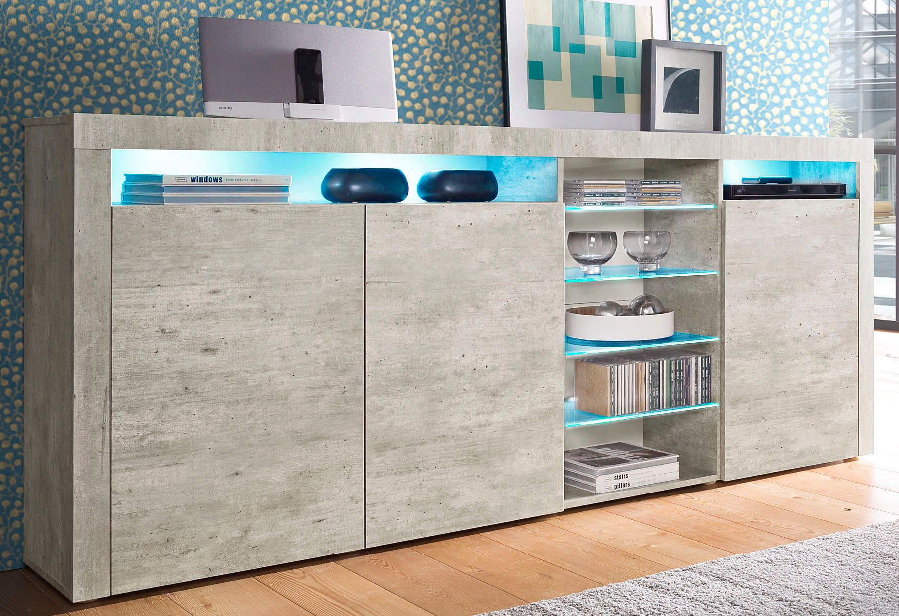 highboard breite 200 cm schwab versand highboards. Black Bedroom Furniture Sets. Home Design Ideas