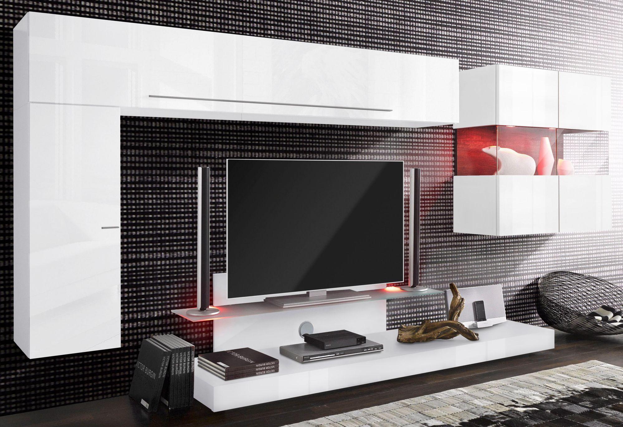 lc wohnwand 4 tlg breite 307 cm schwab versand. Black Bedroom Furniture Sets. Home Design Ideas