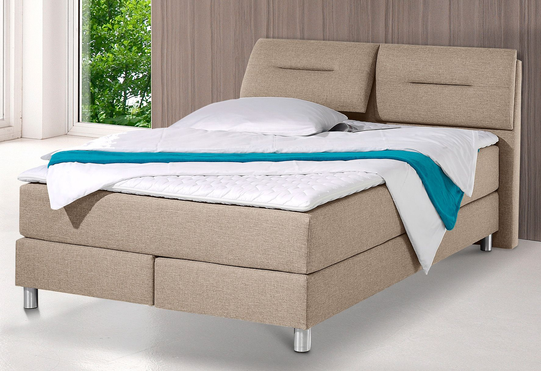 maintal boxspringbett inkl topper schwab versand home affaire. Black Bedroom Furniture Sets. Home Design Ideas