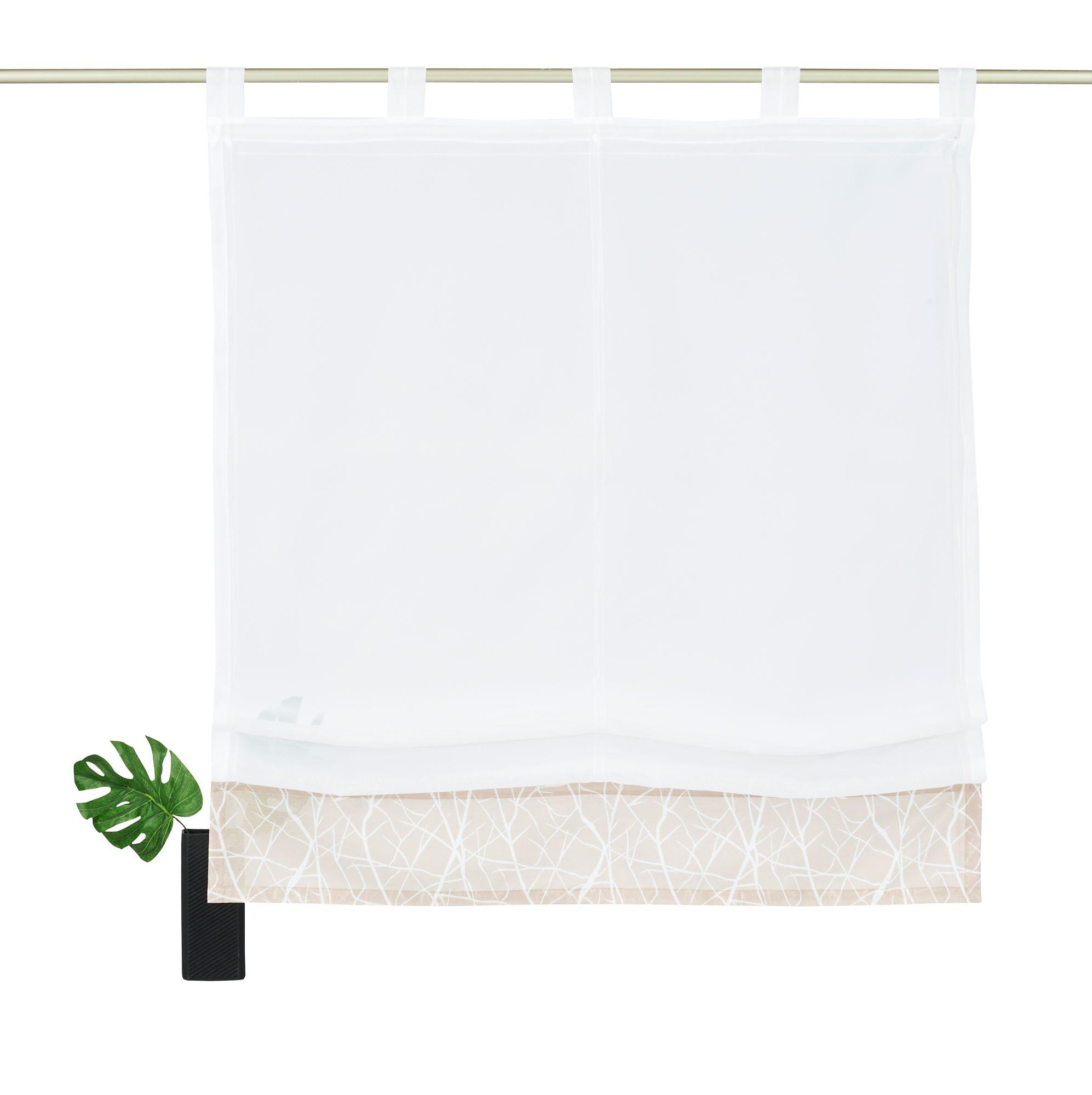 raffrollo my home camposa mit schlaufen schwab. Black Bedroom Furniture Sets. Home Design Ideas