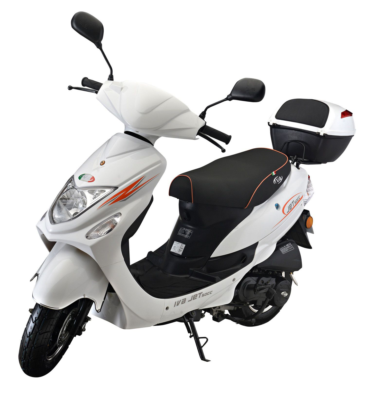 IVA Mofaroller inkl. Topcase, 49 ccm, 25 km/h, weiß,  Jet New  Preisvergleich