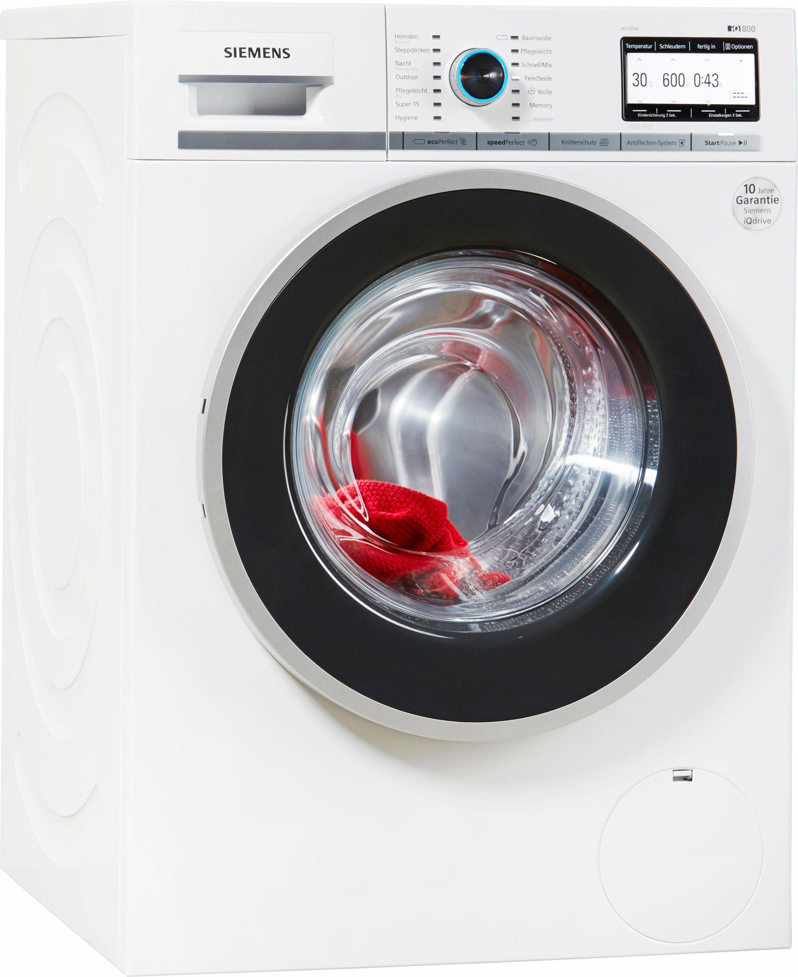 siemens waschmaschine wm14y7w4 a 8 kg 1400 u min. Black Bedroom Furniture Sets. Home Design Ideas