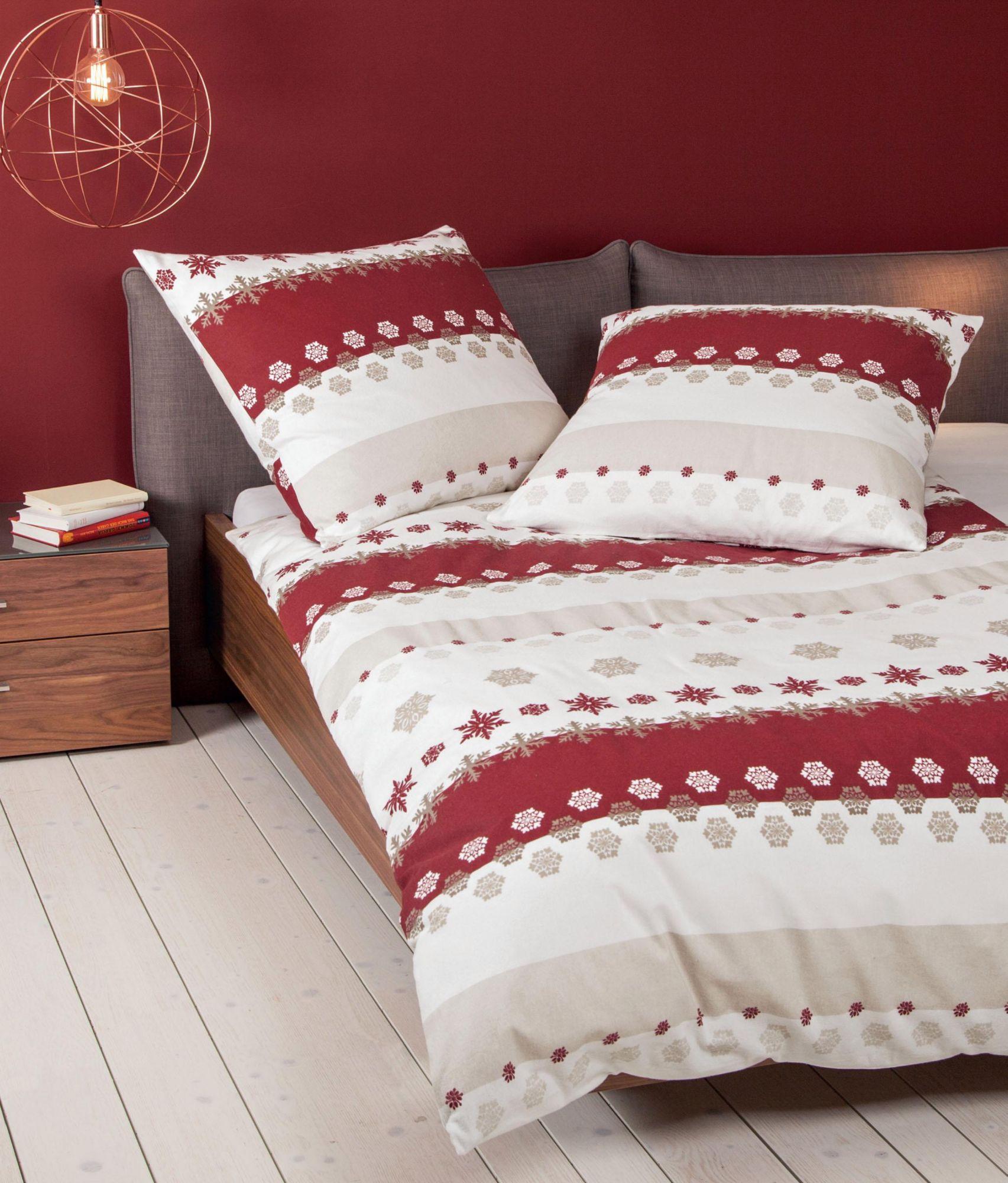 bettw sche janine winter dream mit schneeflocken. Black Bedroom Furniture Sets. Home Design Ideas