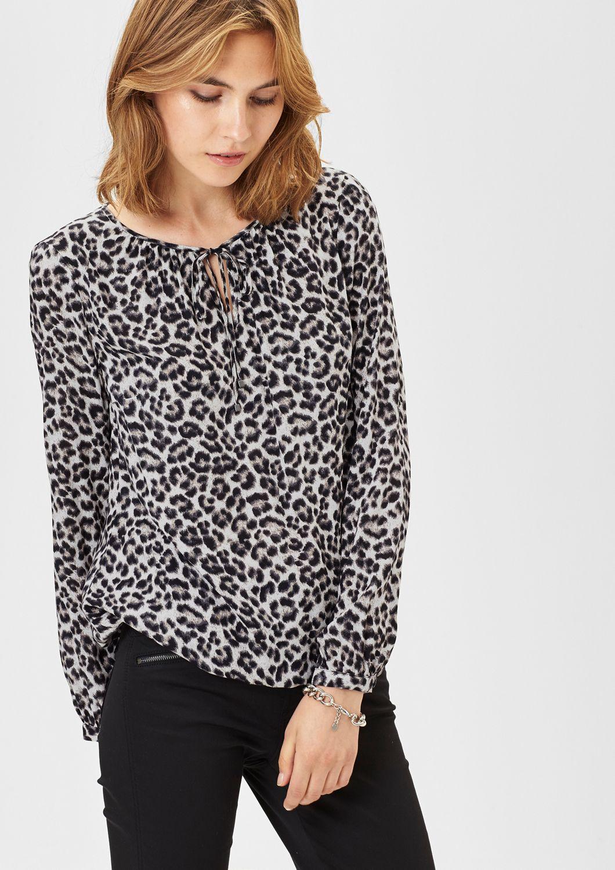 s oliver black label feminine bluse mit saum gummizug schwab versand klassische blusen. Black Bedroom Furniture Sets. Home Design Ideas
