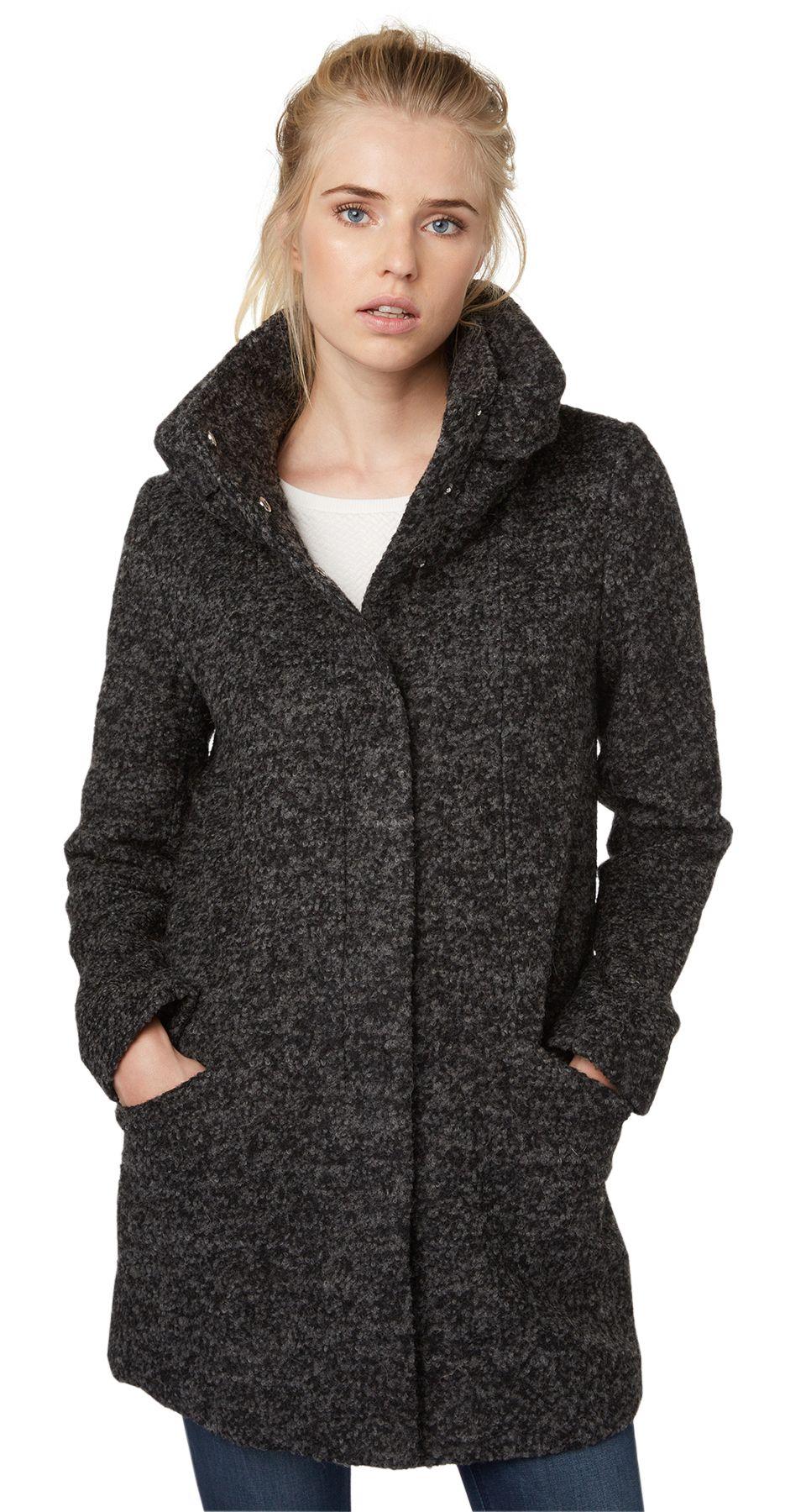 tom tailor denim jacke wool coat with big collar schwab versand outdoorjacken. Black Bedroom Furniture Sets. Home Design Ideas