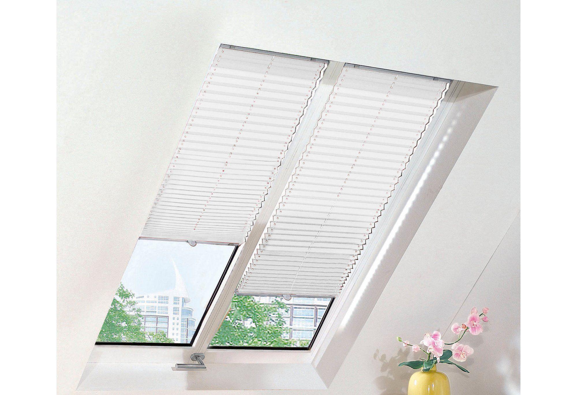dachfenster plissee sunlines uni nach ma schwab versand sonnenschutz plissees. Black Bedroom Furniture Sets. Home Design Ideas