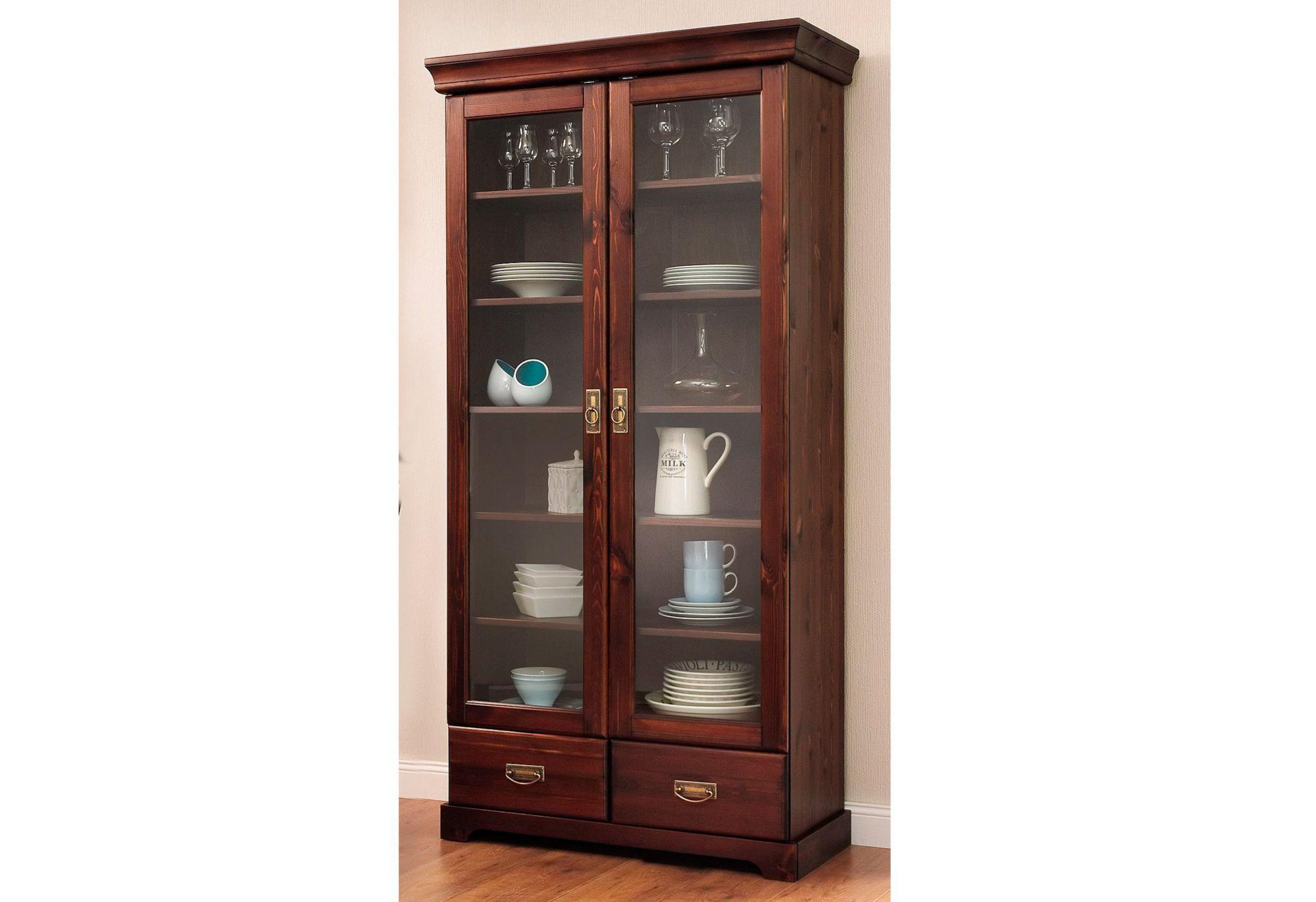 vitrine home affaire h he 180 cm schwab versand kommoden. Black Bedroom Furniture Sets. Home Design Ideas