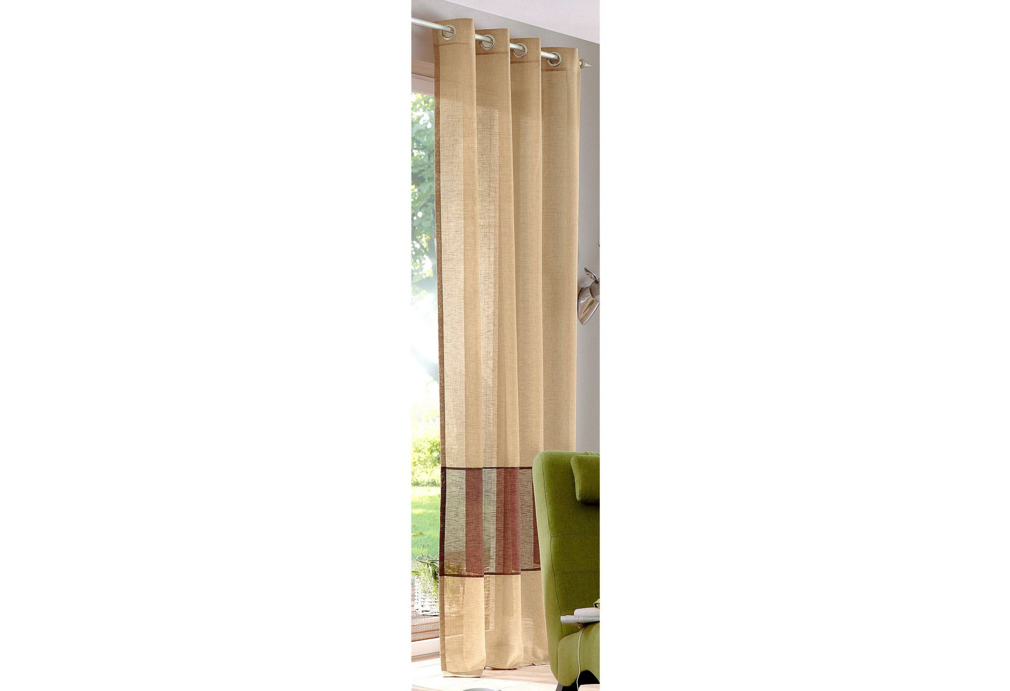 gardine my home lansing 1 st ck schwab versand transparente gardinen. Black Bedroom Furniture Sets. Home Design Ideas