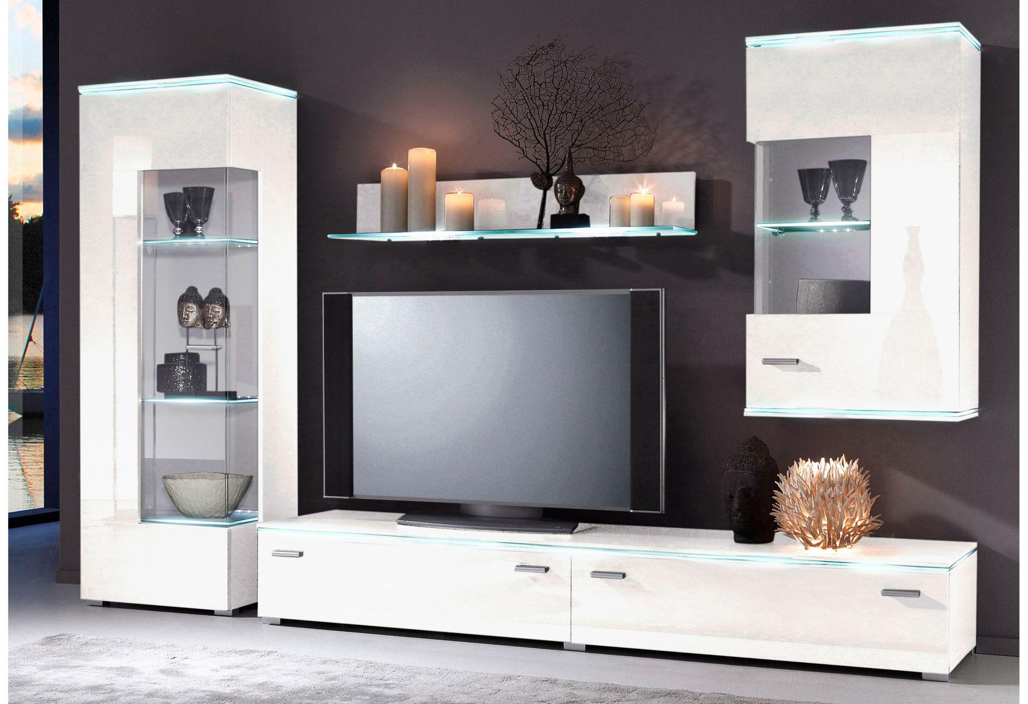 wohnwand 4 tlg schwab versand kommoden sideboards. Black Bedroom Furniture Sets. Home Design Ideas
