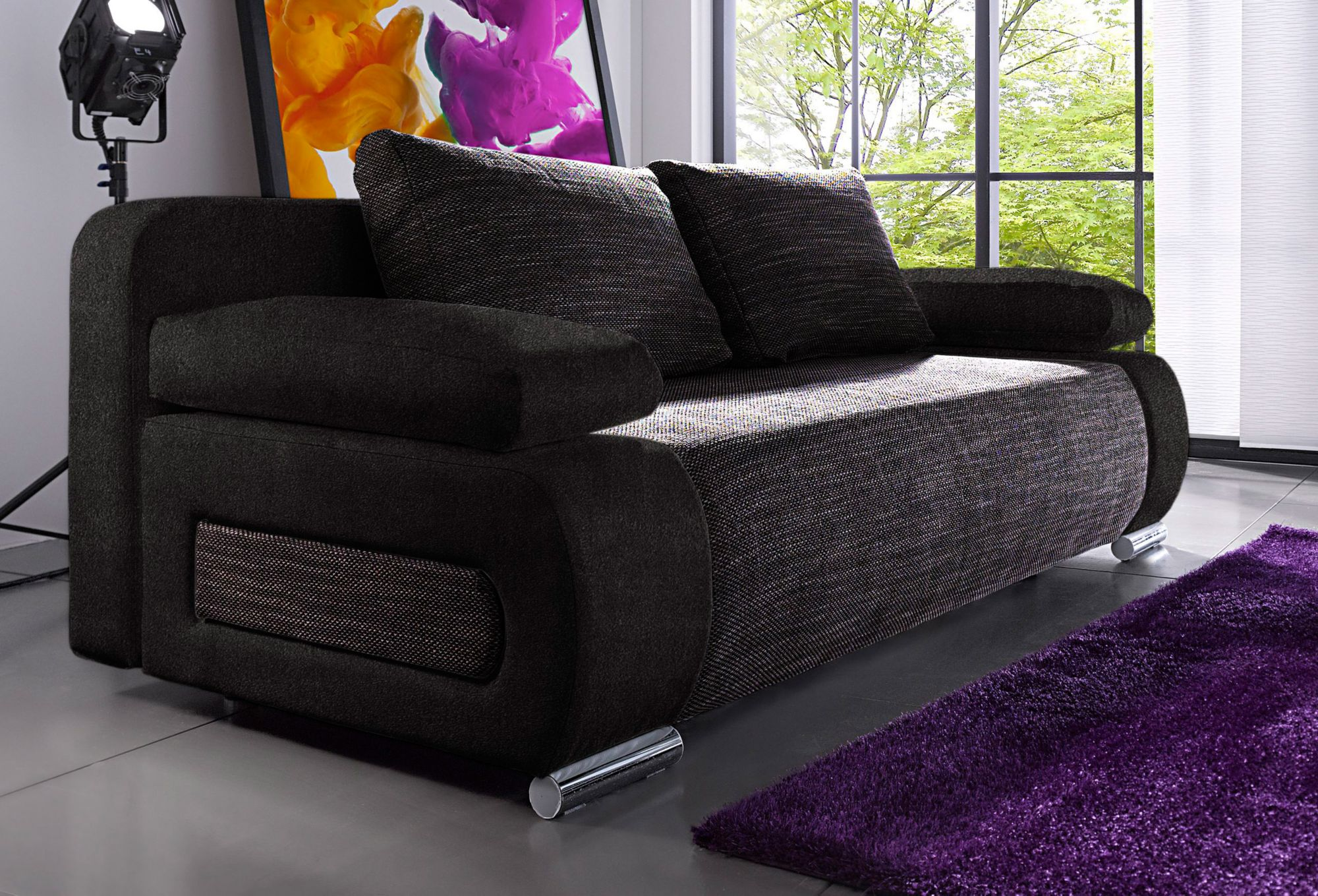 schlafsofa mit federkern schwab versand sofas couches. Black Bedroom Furniture Sets. Home Design Ideas