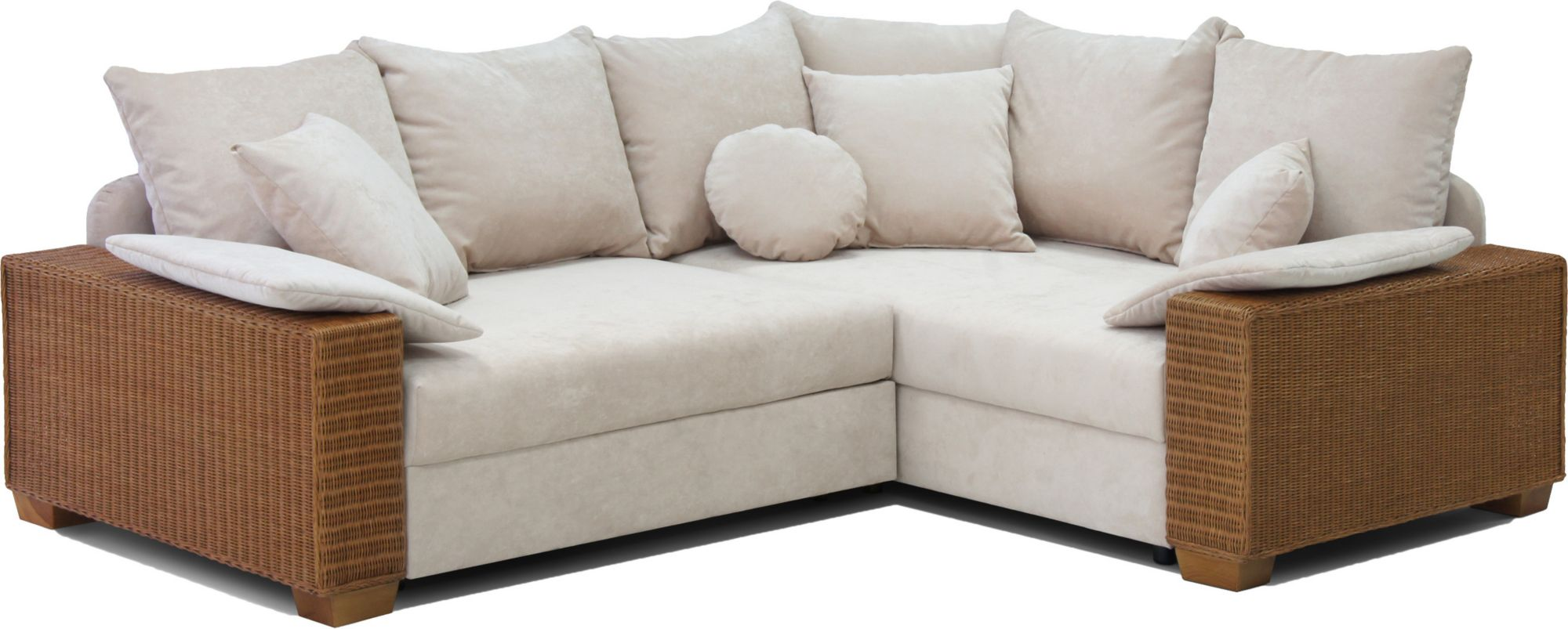 home affaire polsterecke kenia mit bettfunktion und federkern gestell honigfarben schwab. Black Bedroom Furniture Sets. Home Design Ideas