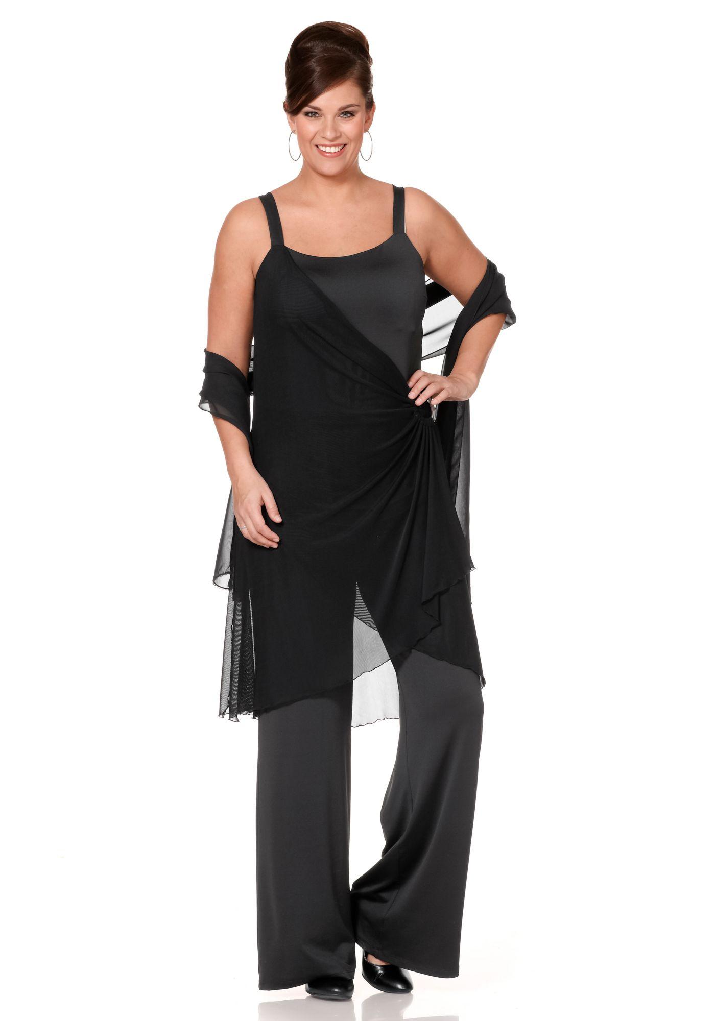 sheego style zweilagenlook jumpsuit schwab versand. Black Bedroom Furniture Sets. Home Design Ideas