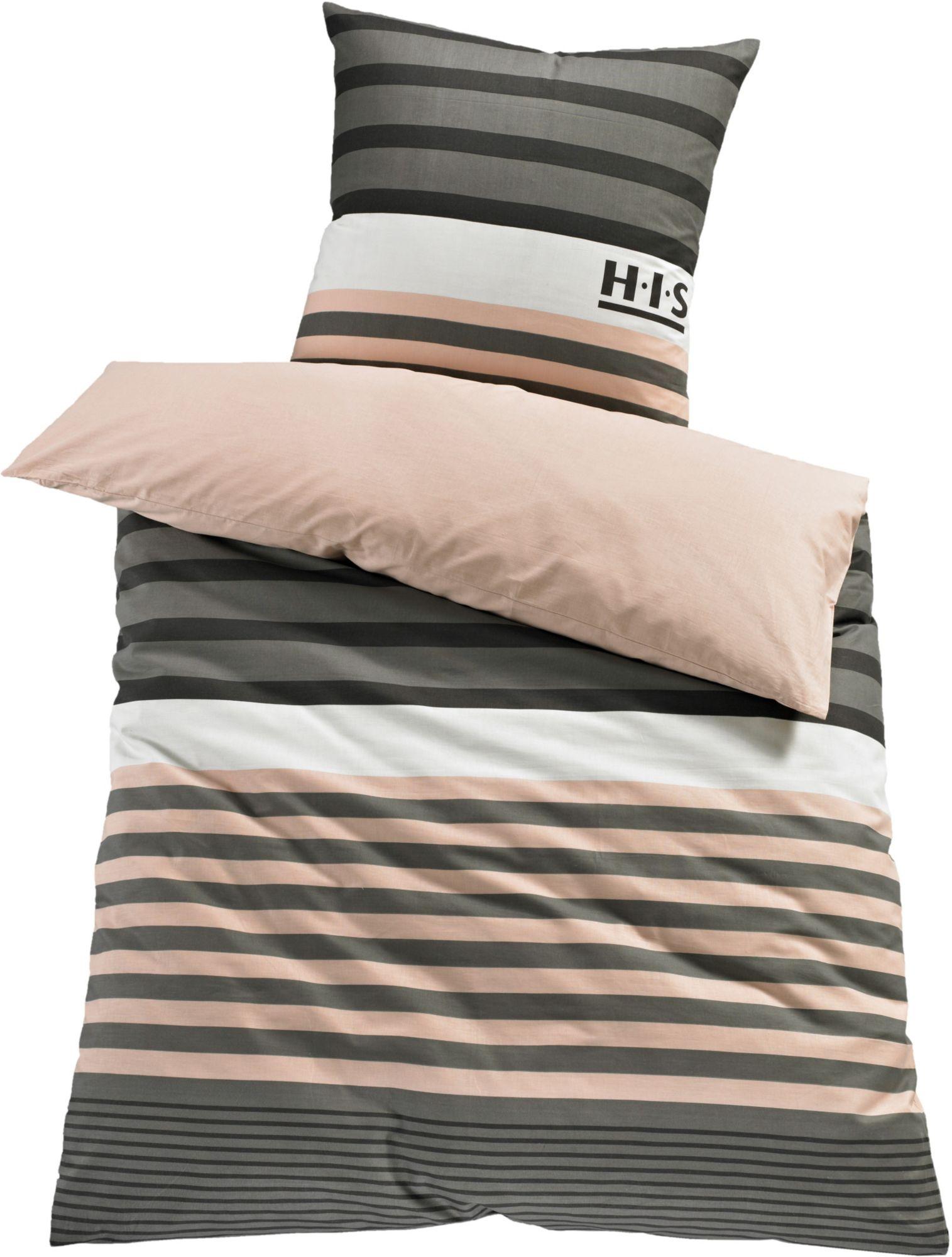 bettw sche h i s majoran mit streifen schwab versand bettw sche 135x200 cm. Black Bedroom Furniture Sets. Home Design Ideas
